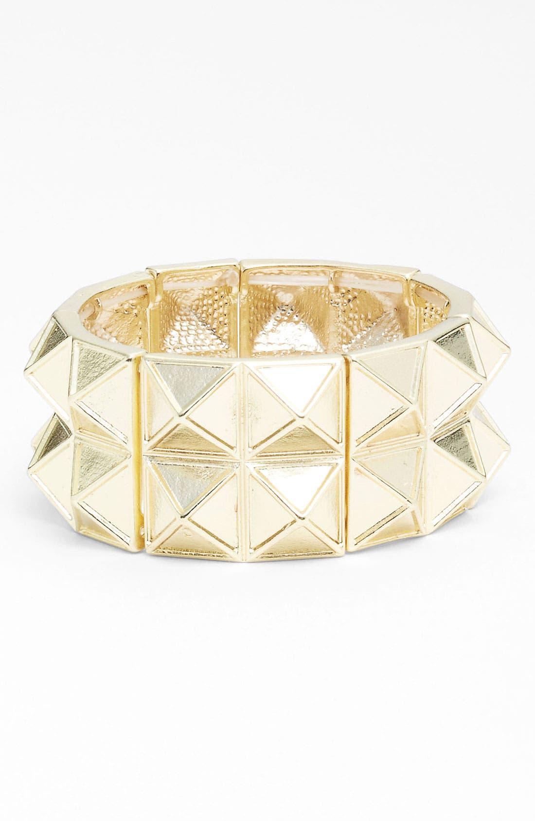 Main Image - Carole Pyramid Stud Stretch Bracelet
