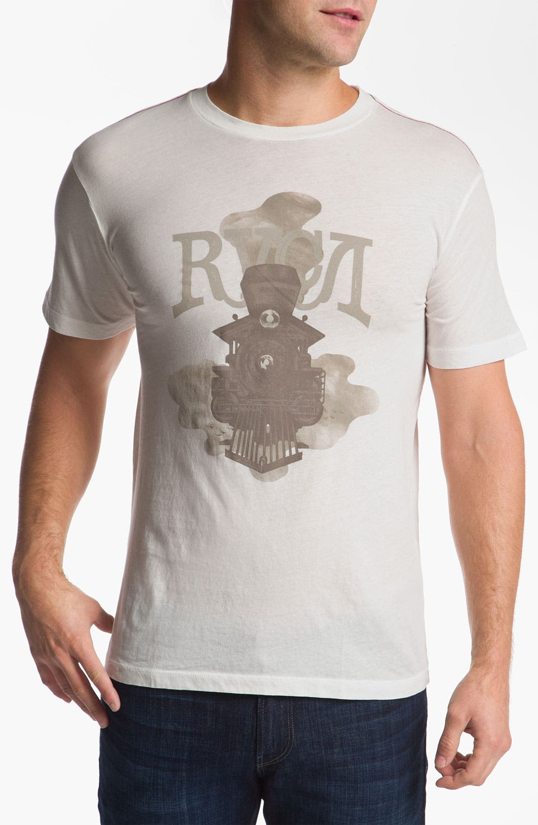 Alternate Image 1 Selected - RVCA 'Locomotive' Vintage Wash T-Shirt