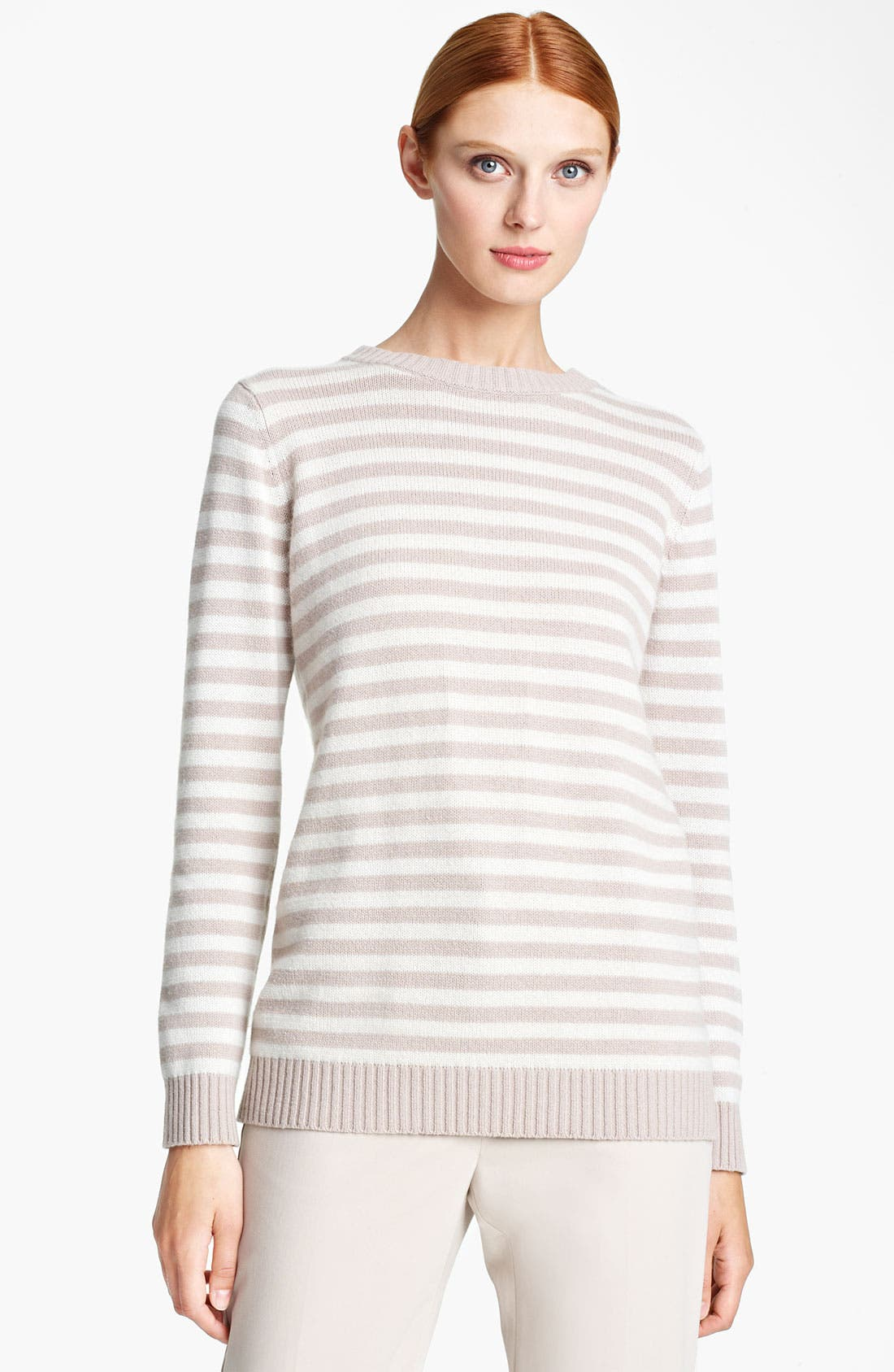Main Image - Max Mara 'Auronzo' Striped Cashmere & Cotton Sweater