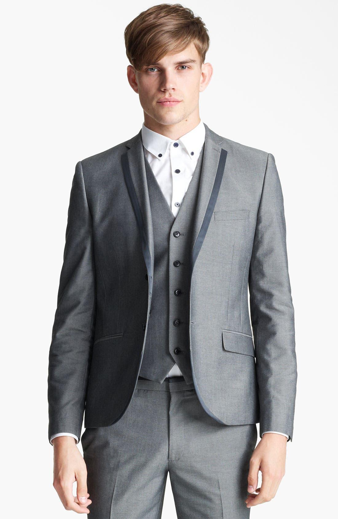 Alternate Image 1 Selected - Topman 'Nottingham' Skinny Suit Jacket