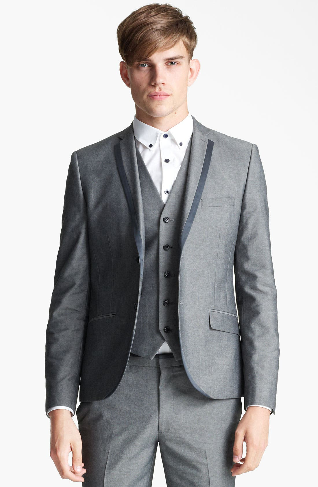 Main Image - Topman 'Nottingham' Skinny Suit Jacket