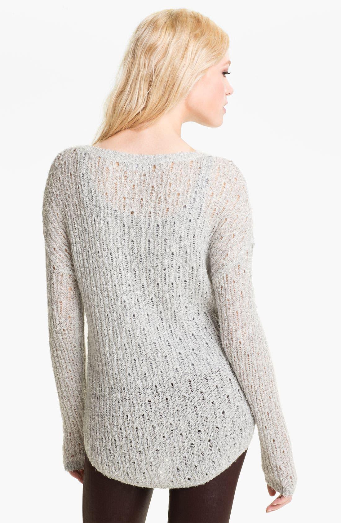 Alternate Image 2  - Trouvé Shimmer Pointelle Sweater