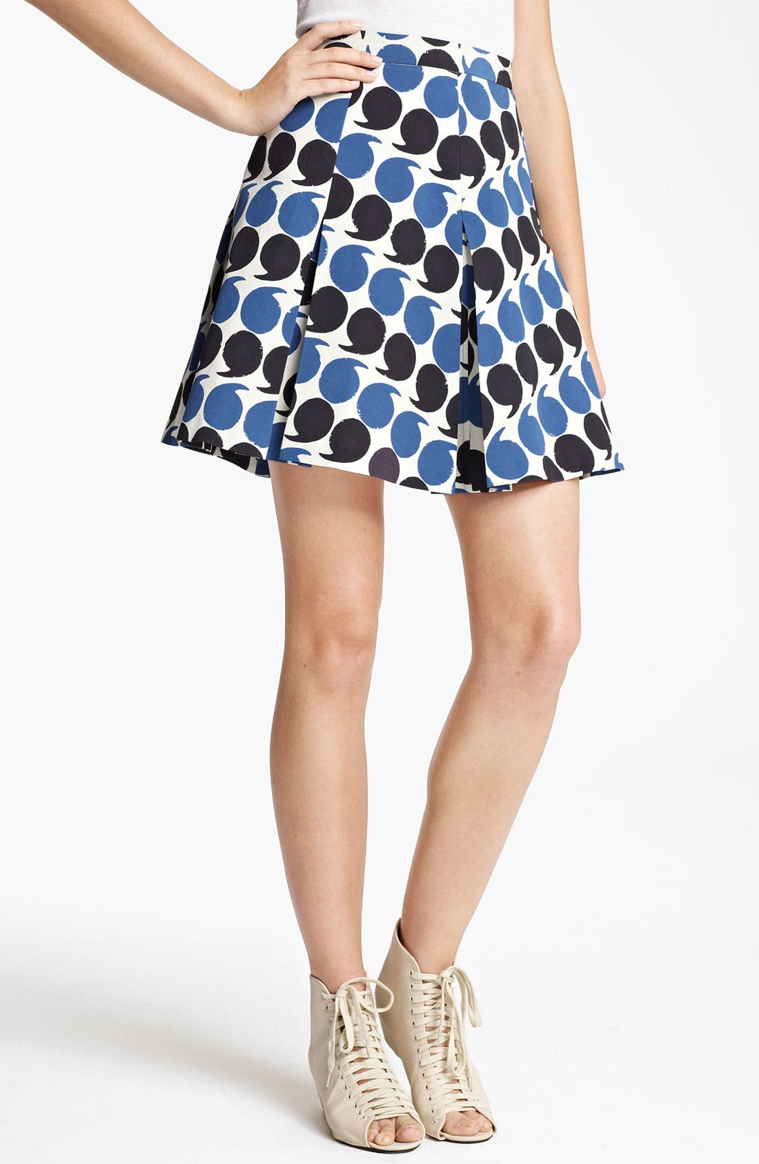 Alternate Image 1 Selected - Band of Outsiders Punctuation Print Skirt