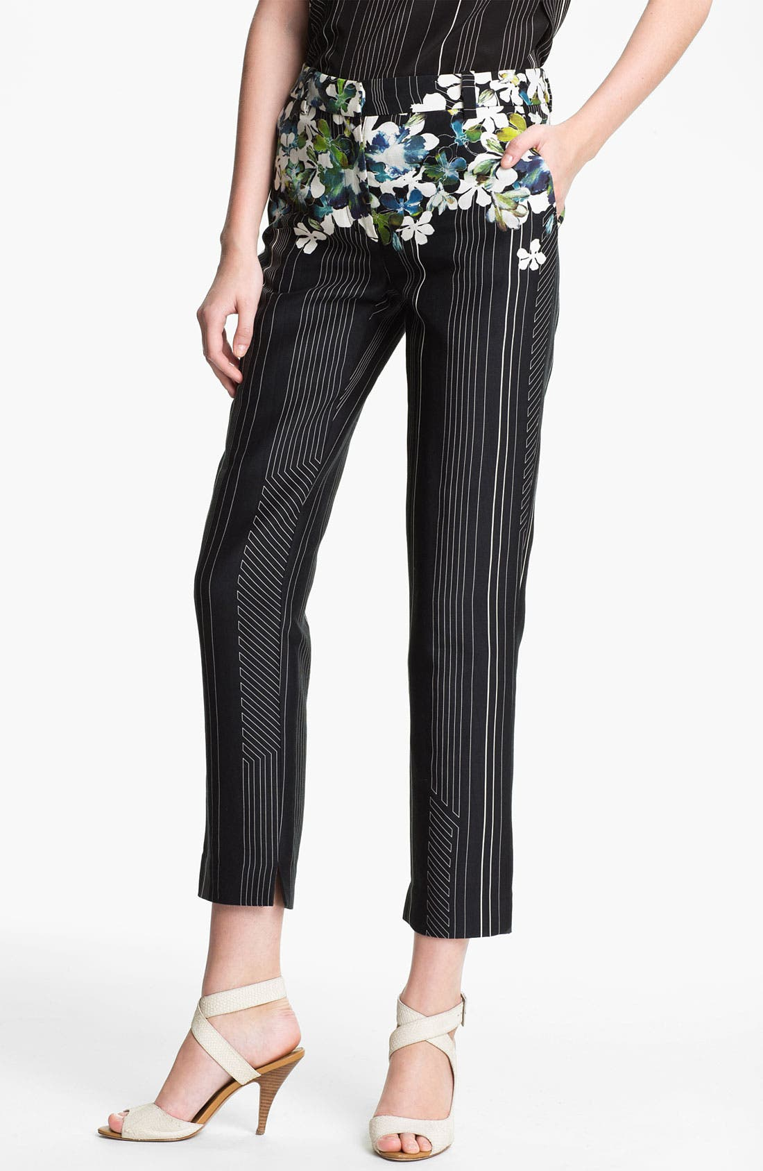 Alternate Image 1 Selected - 3.1 Phillip Lim Floral Print Flat Front Trousers