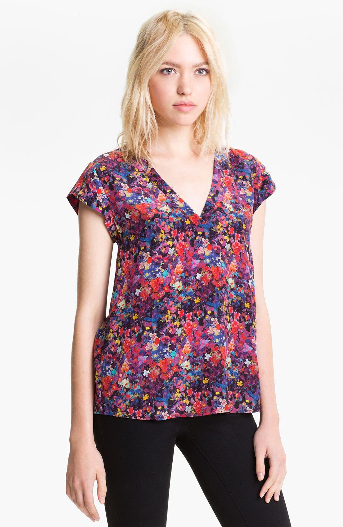Alternate Image 1 Selected - Joie 'Rubina' V-Neck Silk Top