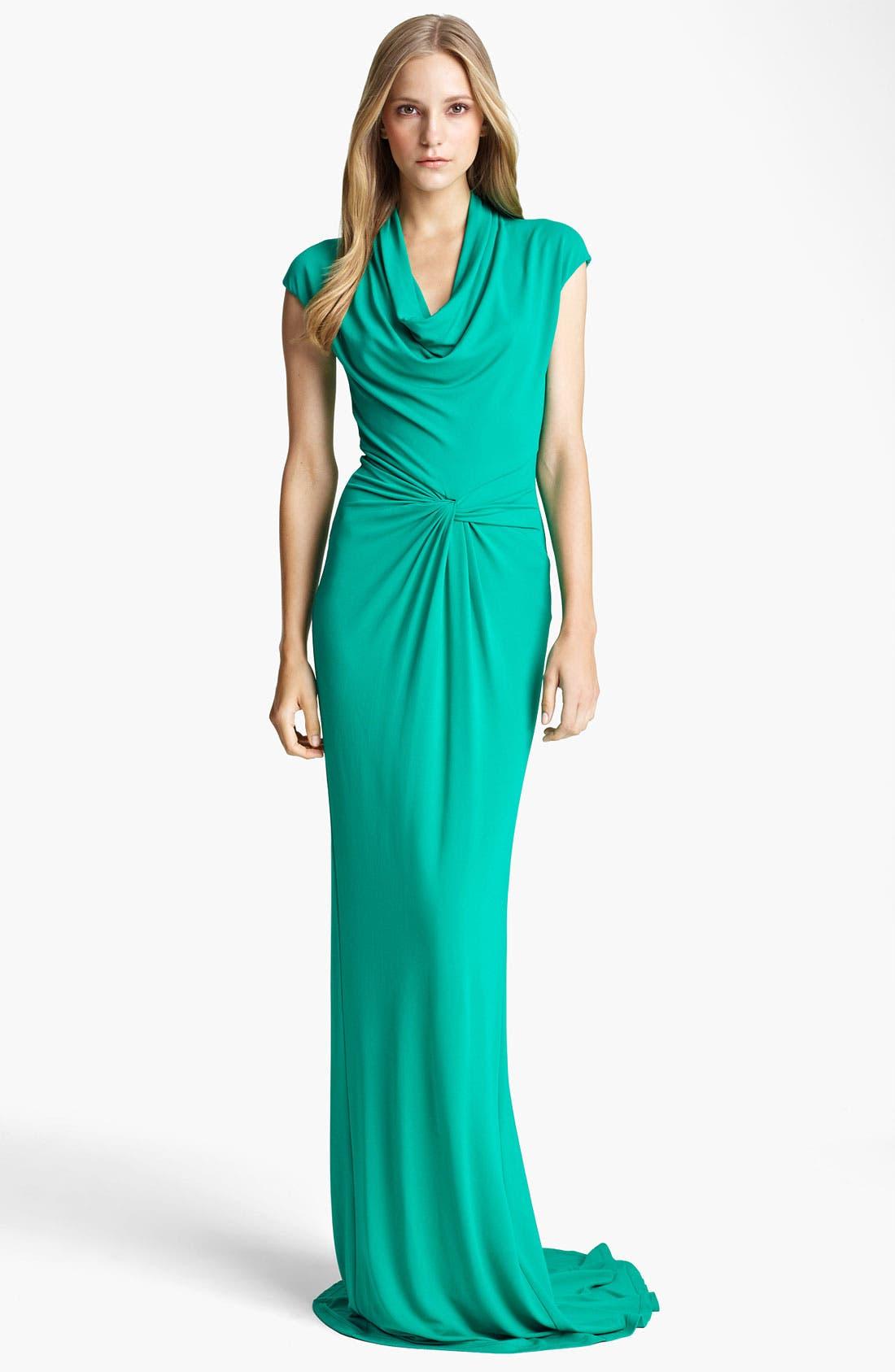 Main Image - Michael Kors Cowl Neck Matte Jersey Gown