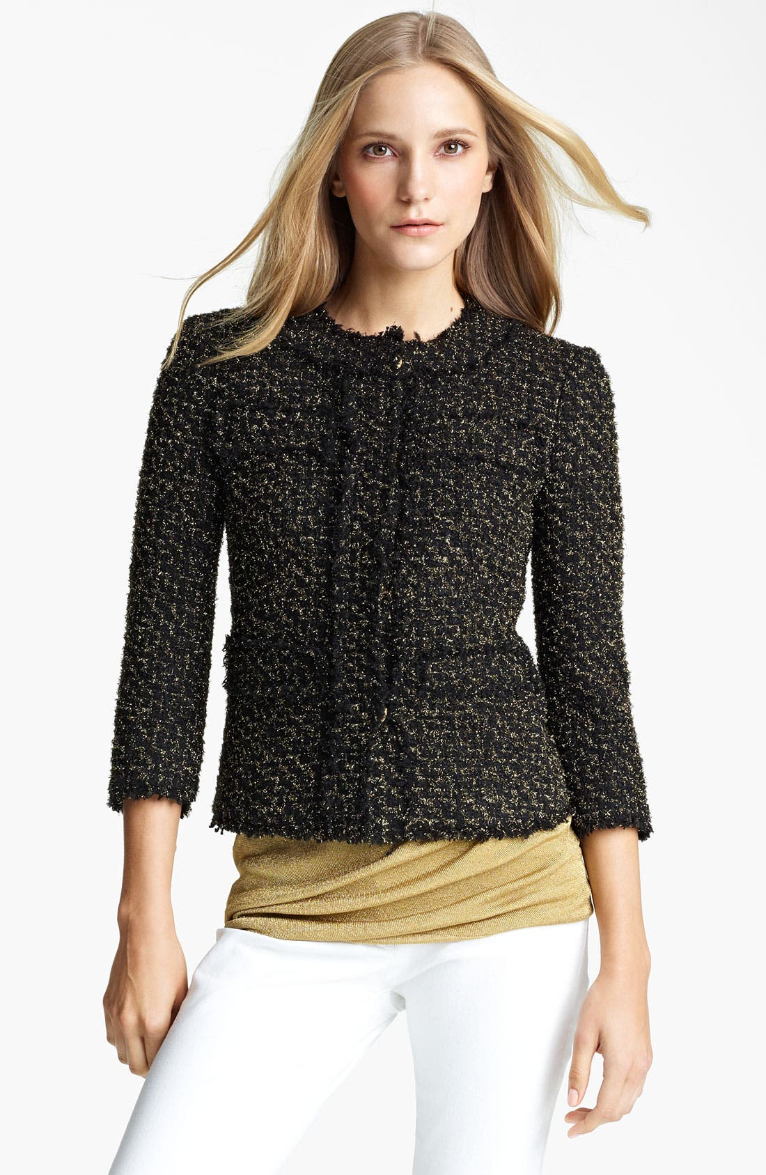 Main Image - Michael Kors Metallic Tweed Jacket