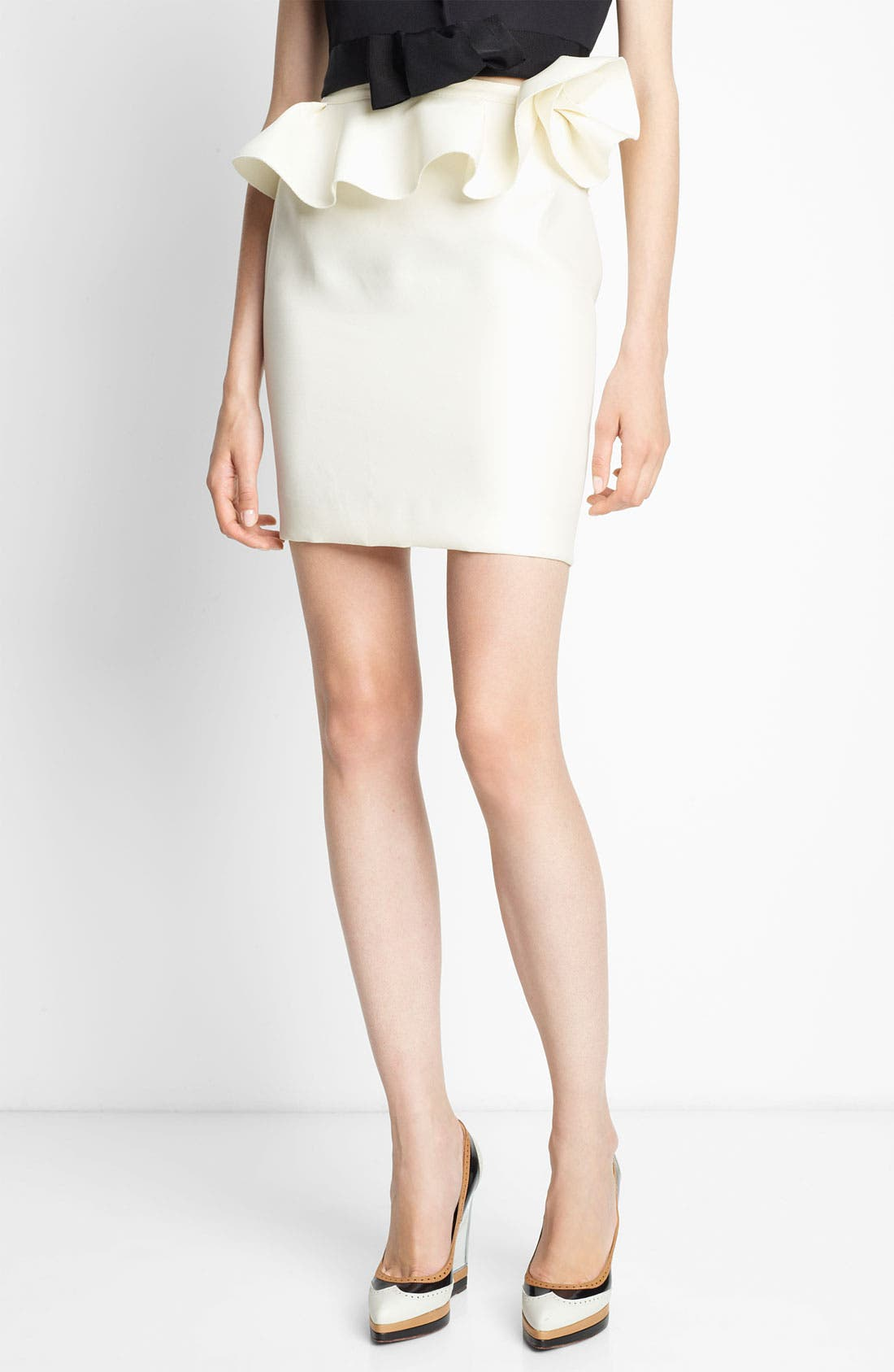 Alternate Image 1 Selected - Lanvin Ruffled Silk Gazar Skirt
