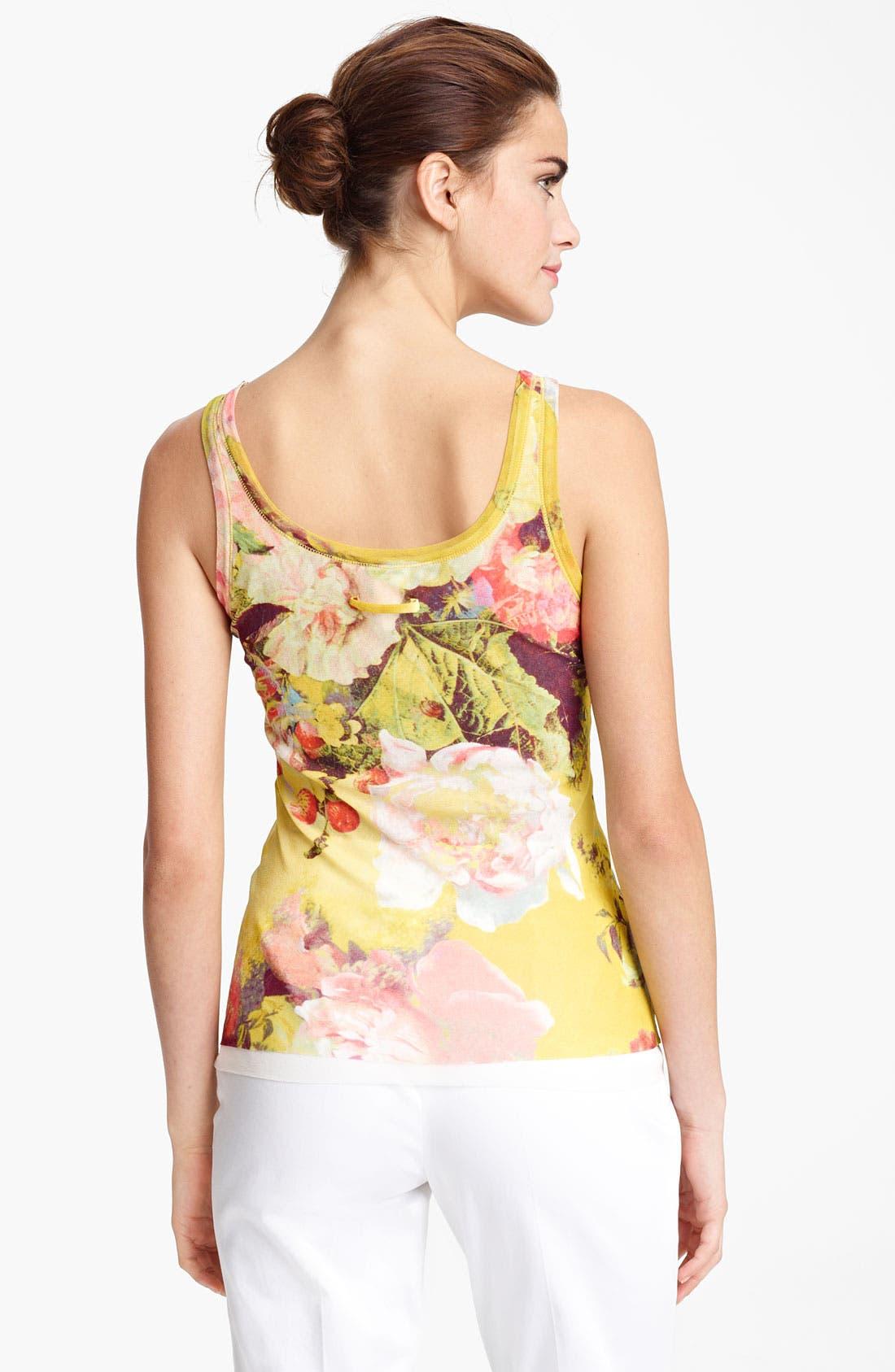 Alternate Image 2  - Jean Paul Gaultier Fuzzi Flower Print Tulle Tank