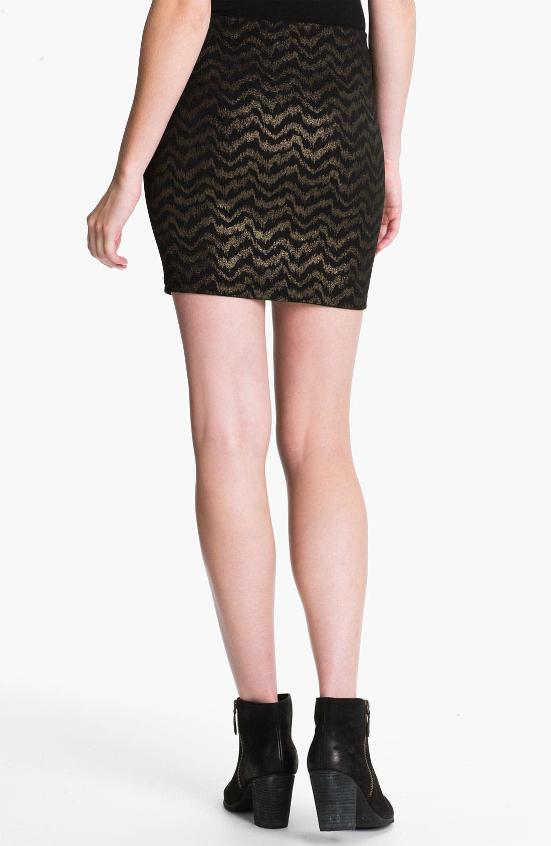 Alternate Image 2  - Necessary Objects Frequency Metallic Body-Con Skirt (Juniors)