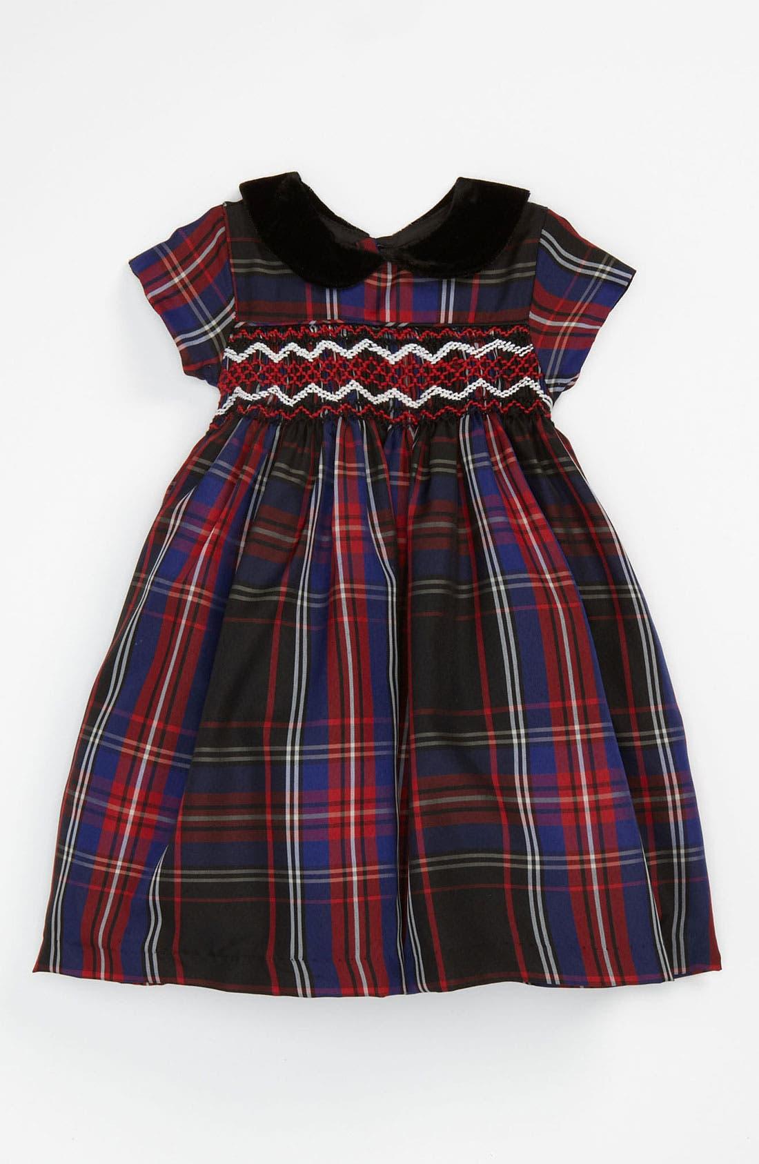 Alternate Image 1 Selected - Laura Ashley Plaid Dress (Toddler)