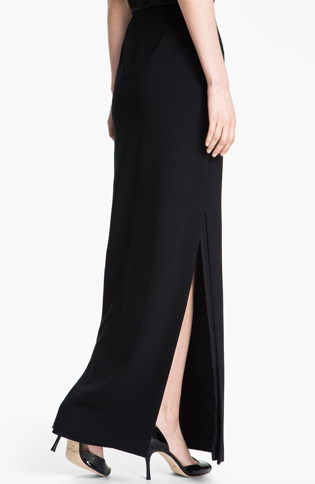 Alternate Image 3  - St. John Collection Crepe Marocain Gown Skirt