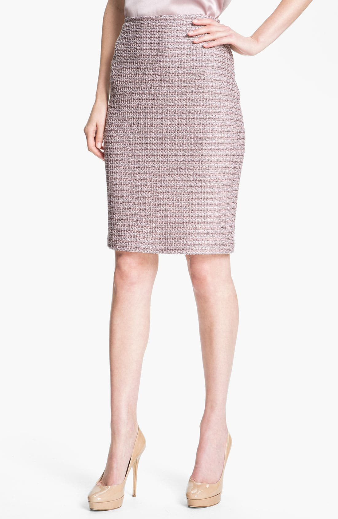 Alternate Image 2  - St. John Collection Madison Tweed Skirt