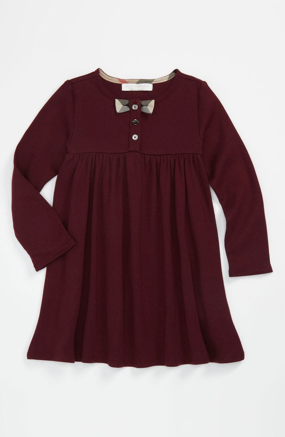 Main Image - Burberry Empire Waist Dress (Toddler)