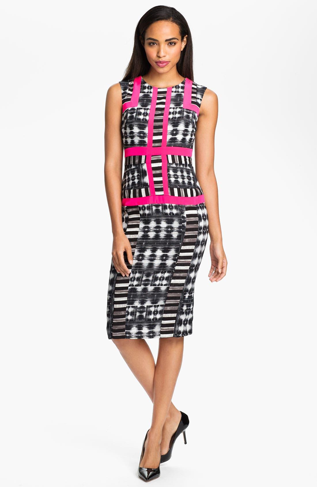Main Image - BCBGMAXAZRIA Print Sleeveless Sheath Dress