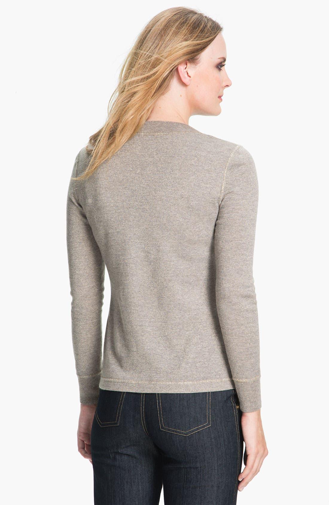 Alternate Image 2  - St. John Collection Shimmer Mélange Knit Sweater