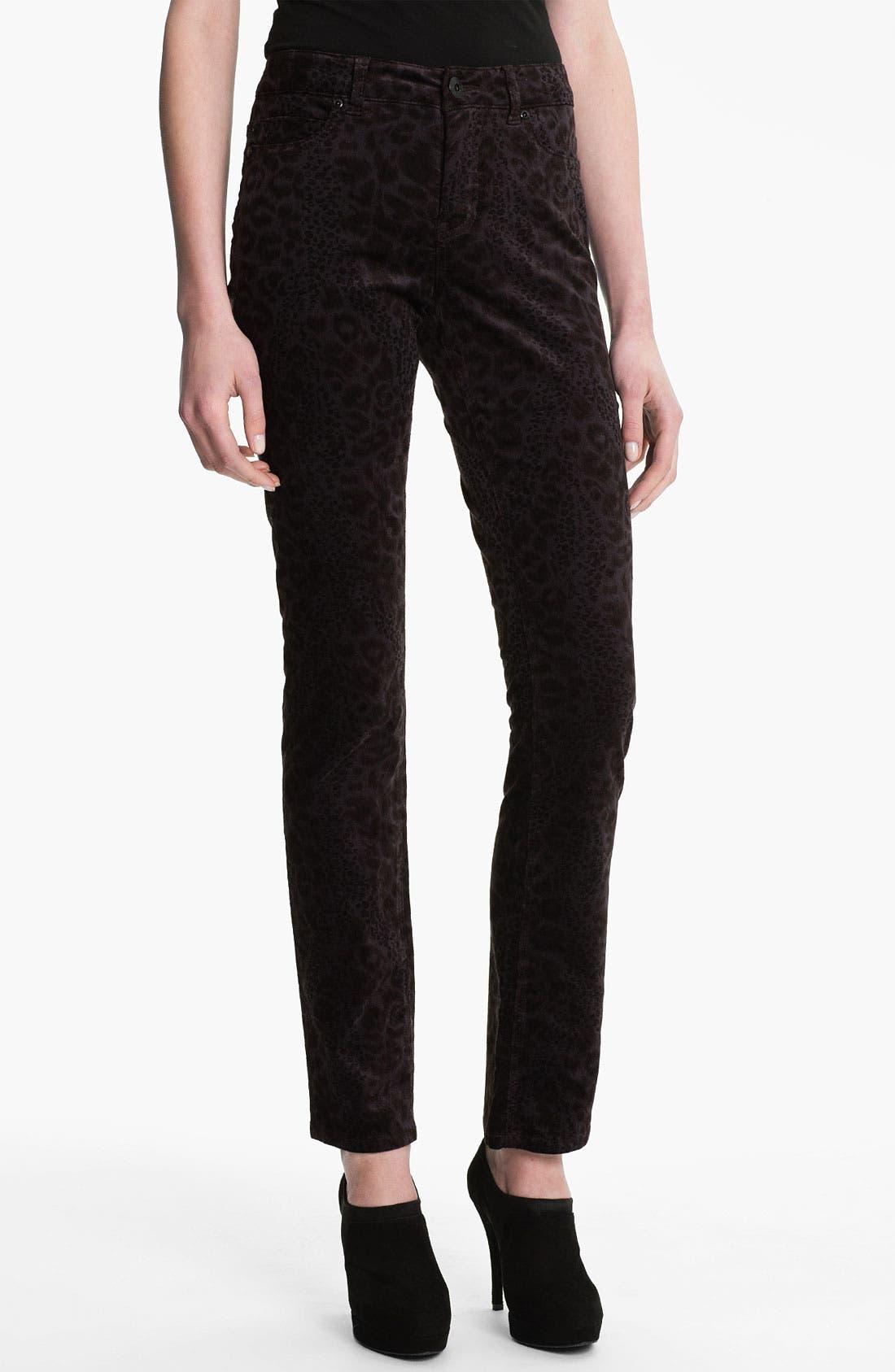Main Image - Liverpool Jeans Company 'Sadie' Print Straight Leg Velveteen Jeans
