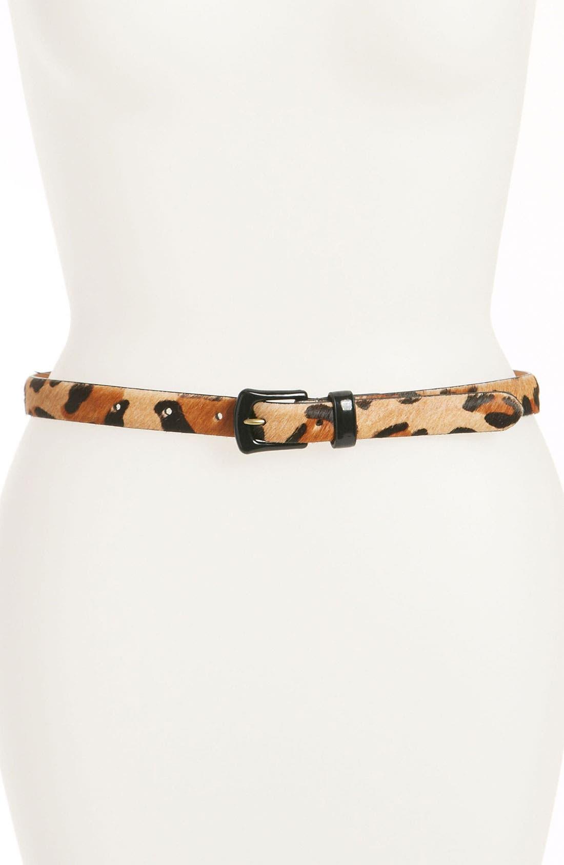 Alternate Image 1 Selected - Lauren Ralph Lauren Print Calf Hair Belt