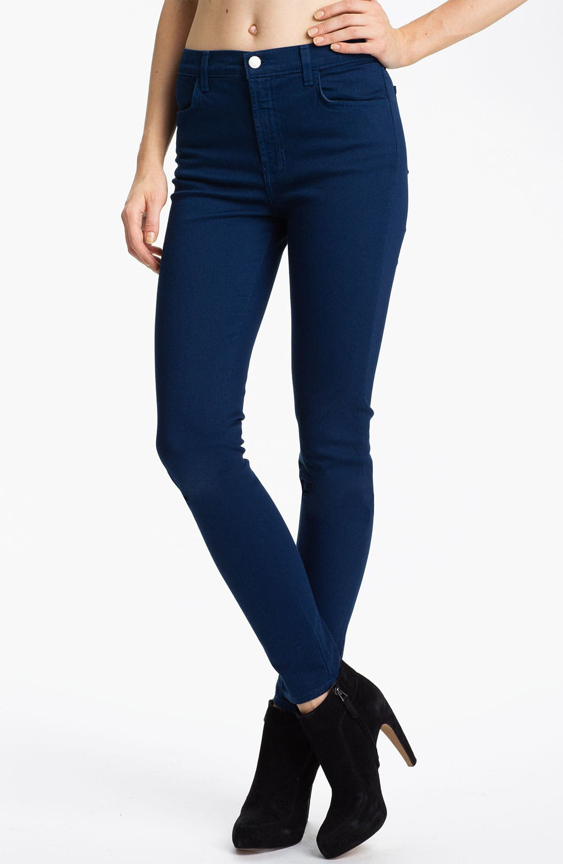 Alternate Image 1 Selected - J Brand 'Maria' High Rise Skinny Stretch Jeans (Nightfall)