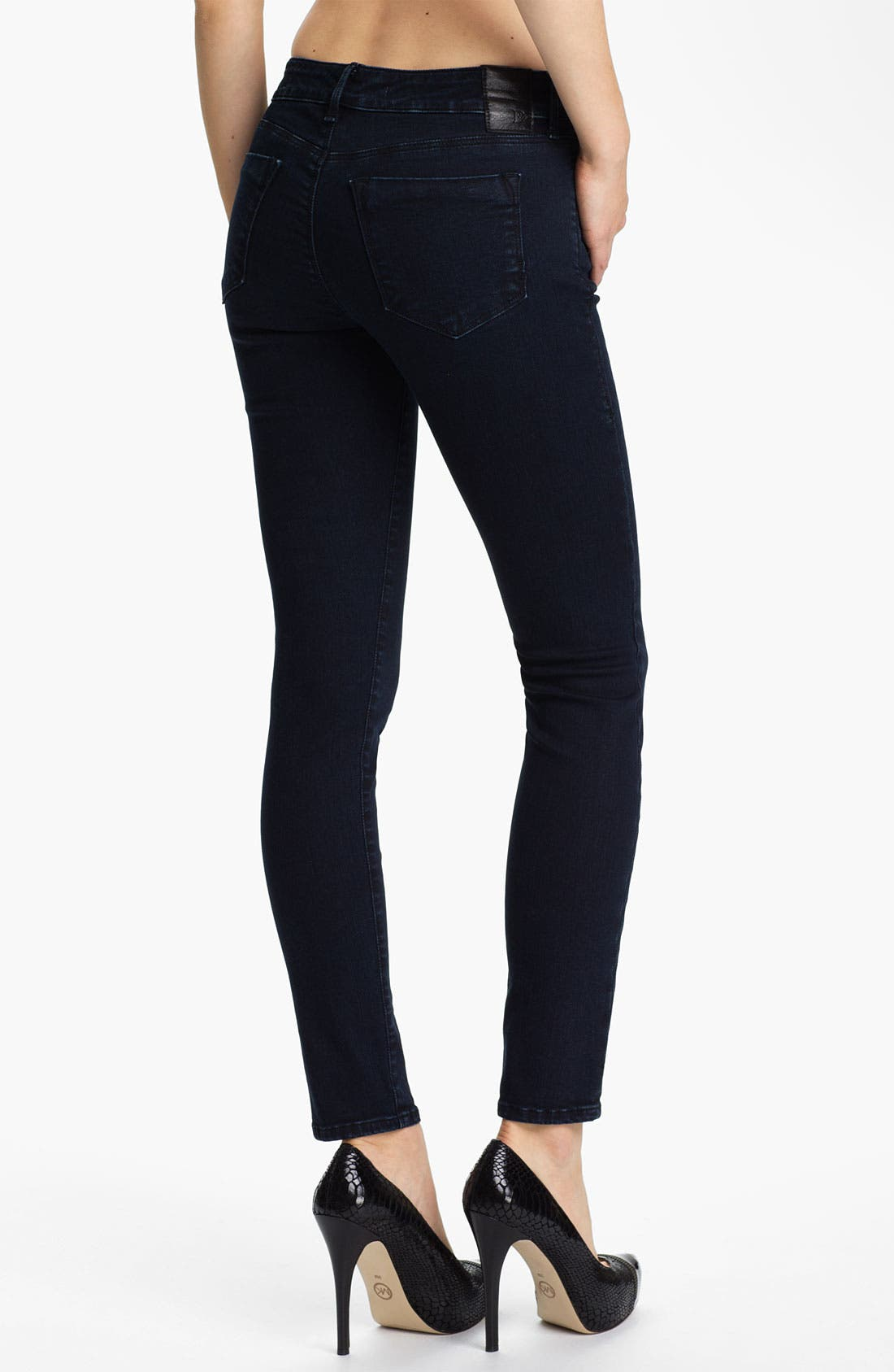 Alternate Image 2  - Dylan George Mid Rise Skinny Jeans (Shadow Blue)