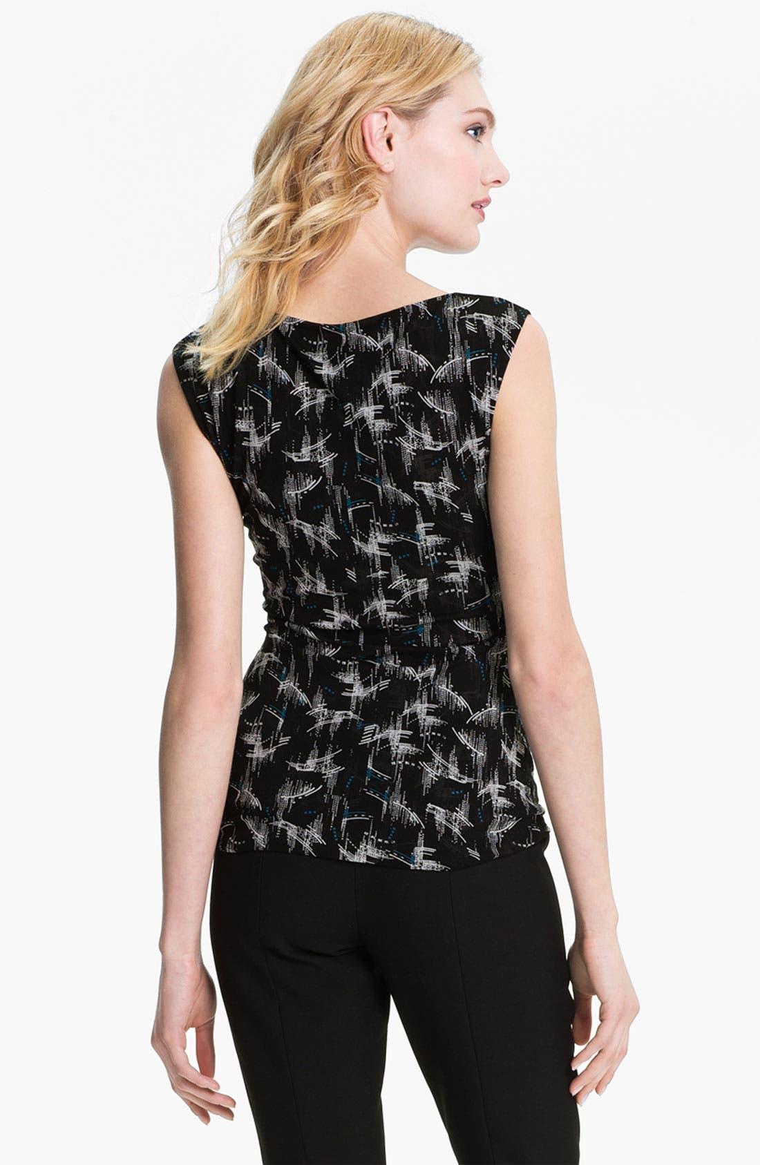 Alternate Image 2  - Classiques Entier® Ruched Waist Double Knit Top