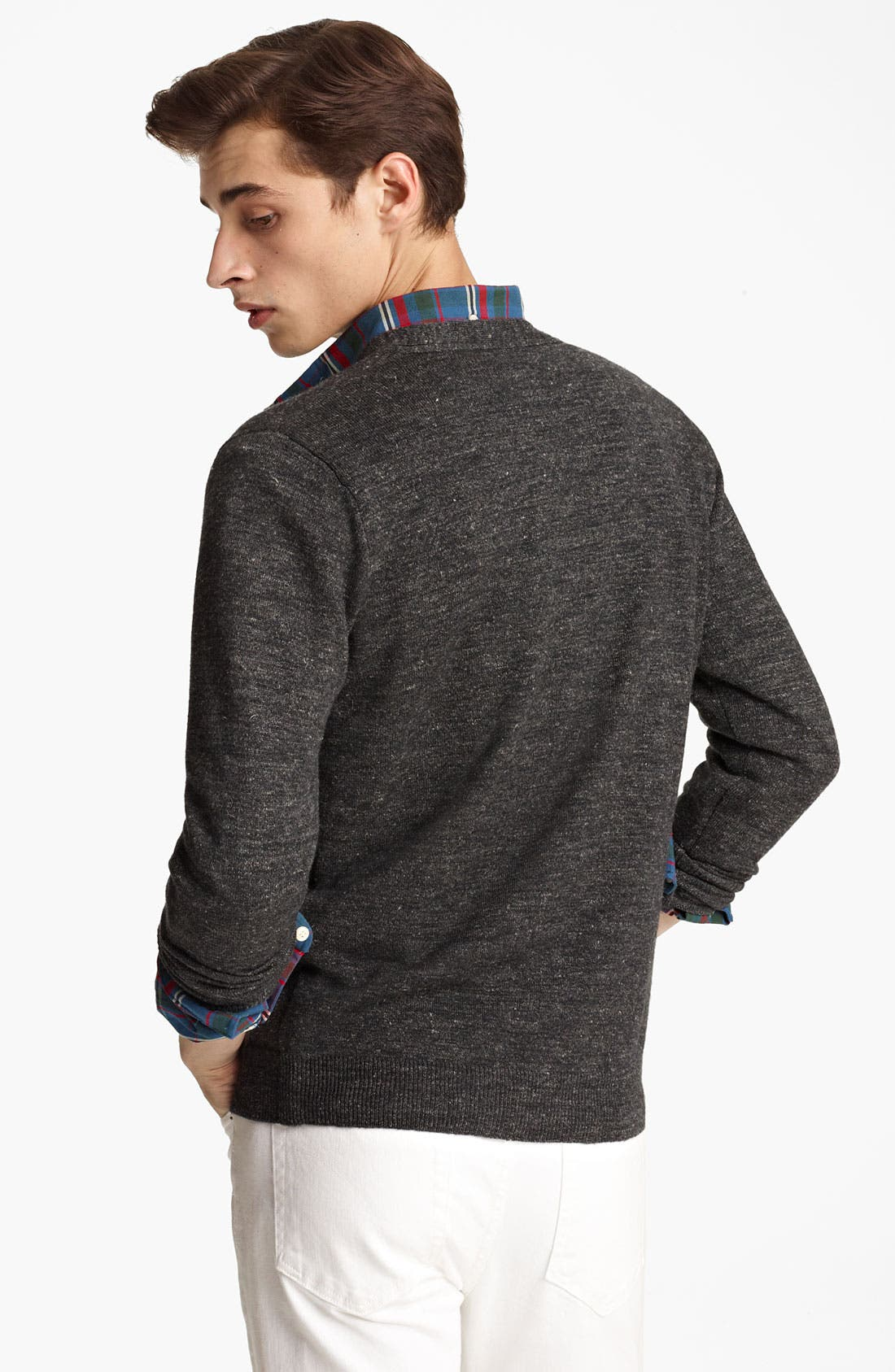Alternate Image 2  - Grayers Wool & Linen Button Cardigan