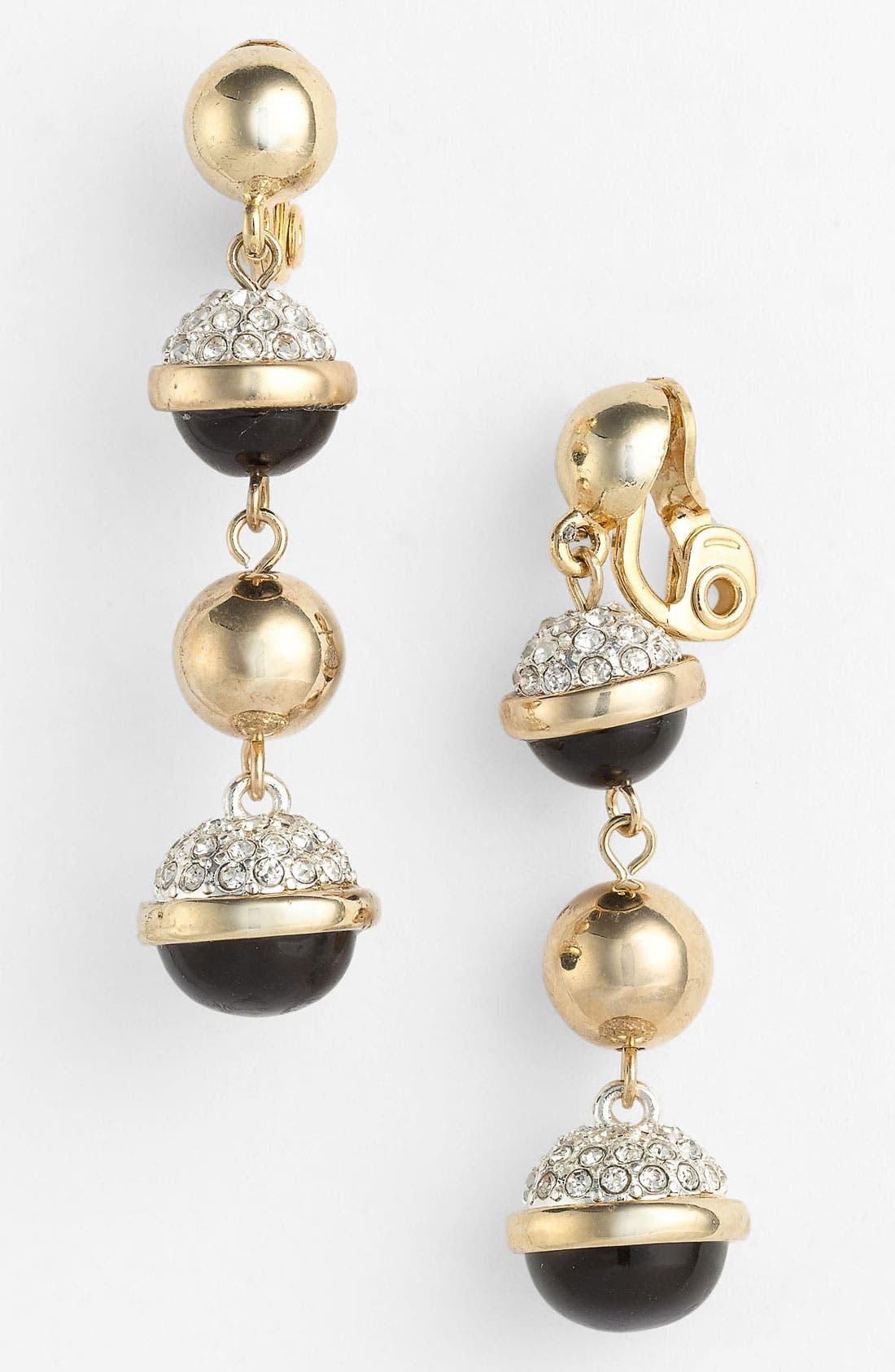 Alternate Image 1 Selected - Anne Klein Linear Clip Earrings