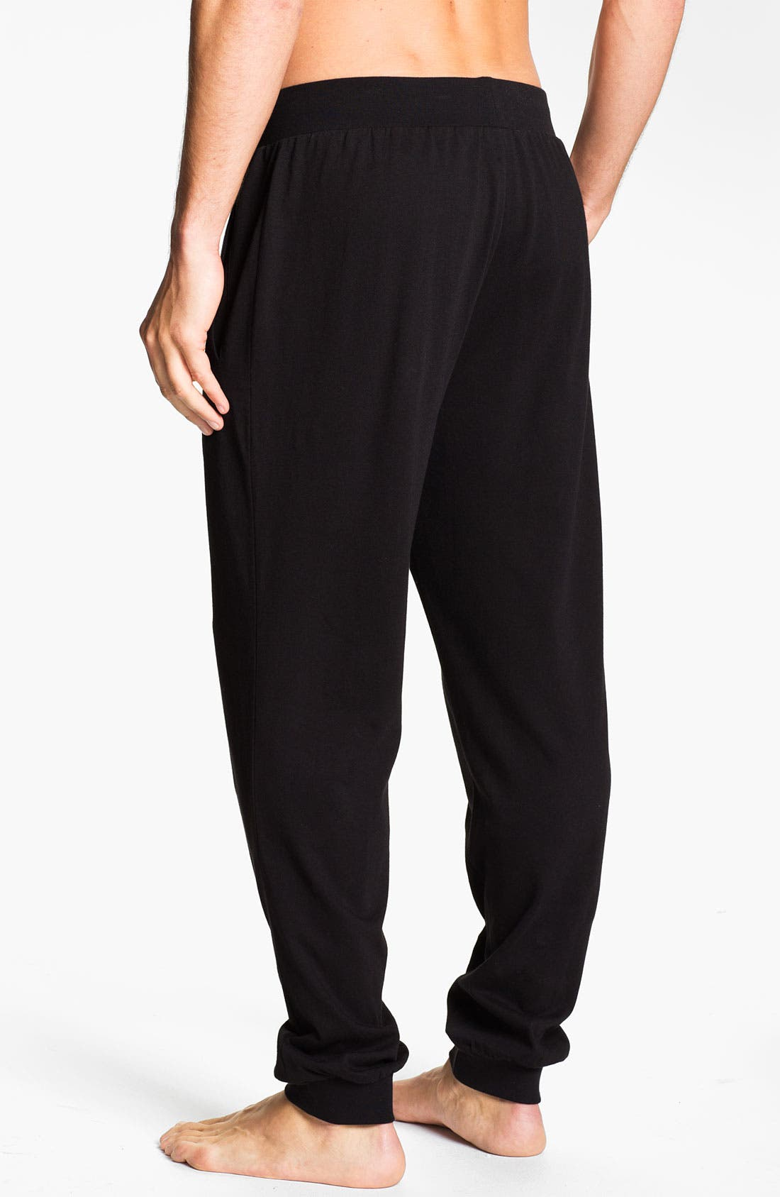 Alternate Image 2  - BOSS Black Cotton Lounge Pants