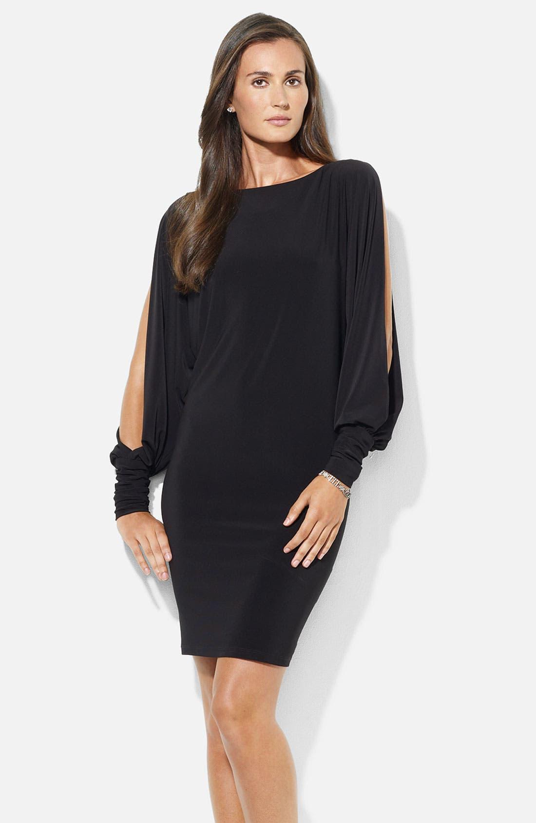 Main Image - Lauren Ralph Lauren Split Blouson Sleeve Jersey Dress