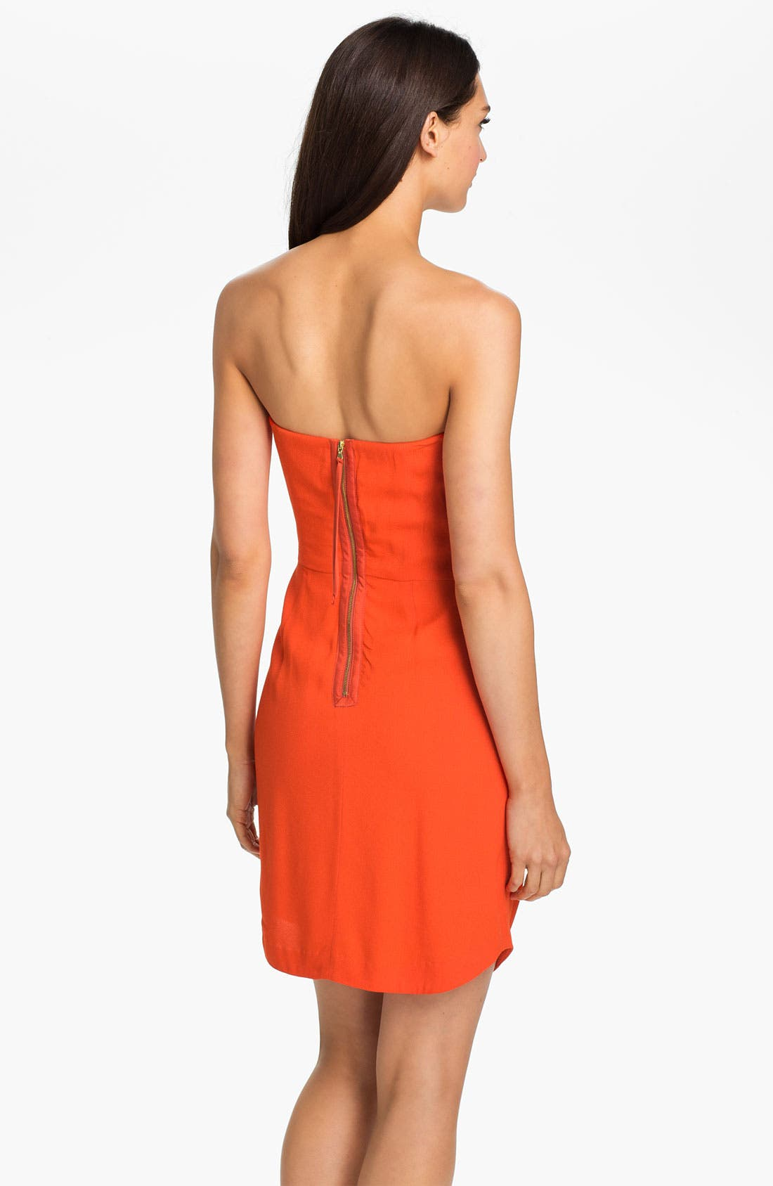 Alternate Image 2  - Rebecca Taylor Strapless Crepe Dress