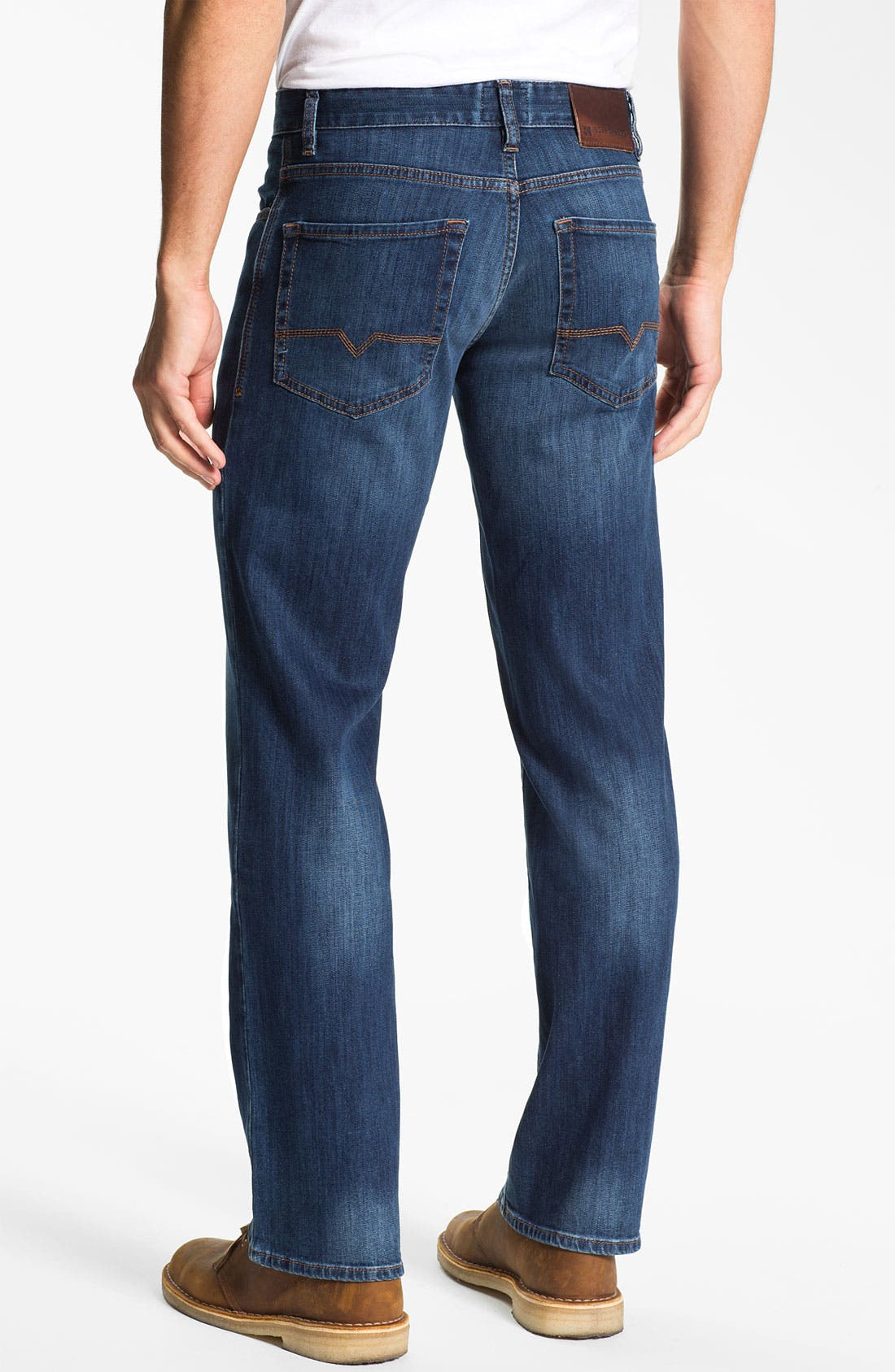 Main Image - BOSS Orange Regular Straight Leg Jeans (Bright Blue)