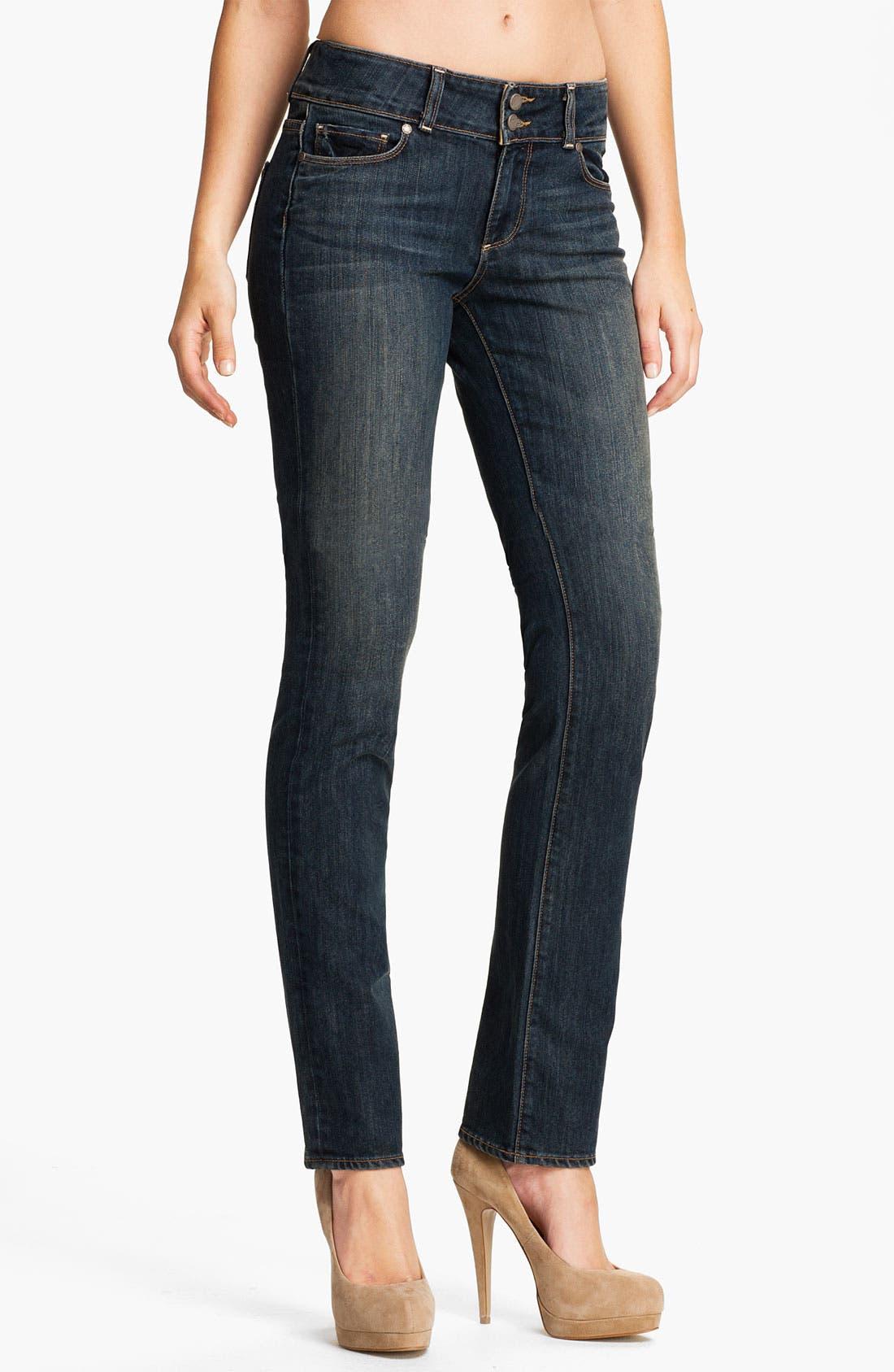 Main Image - Paige Denim 'Hidden Hills' Straight Leg Stretch Jeans (Cottonwood Creek)