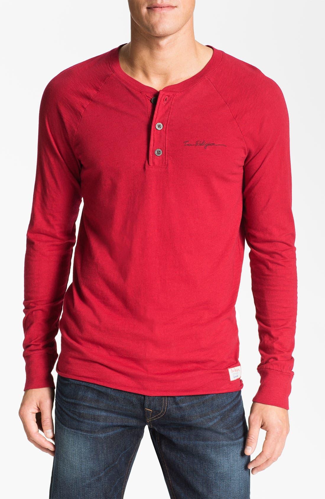 Alternate Image 1 Selected - True Religion Brand Jeans Slub Jersey Henley