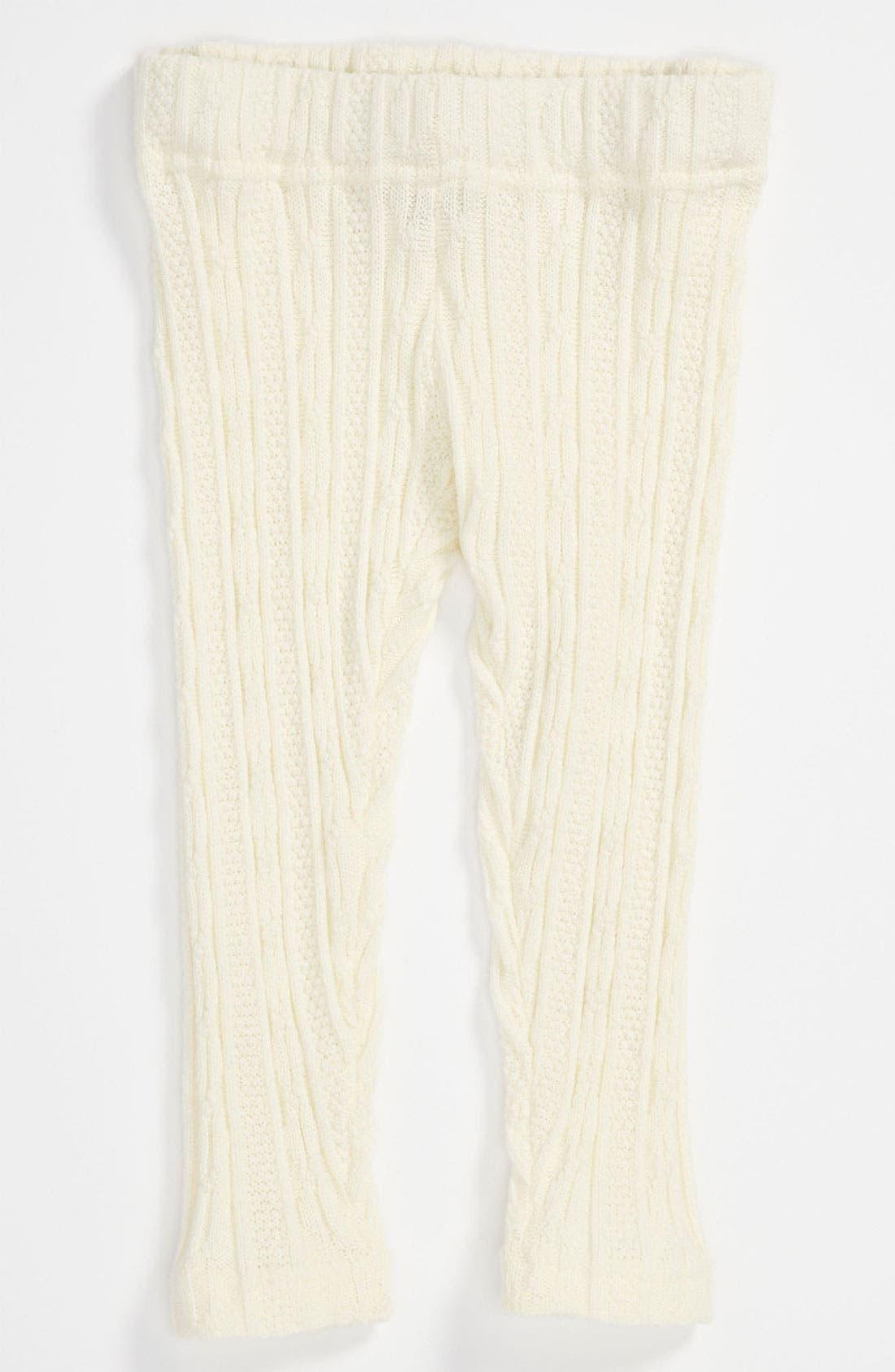 Main Image - Tucker + Tate 'Johanna' Cable Knit Leggings (Infant)