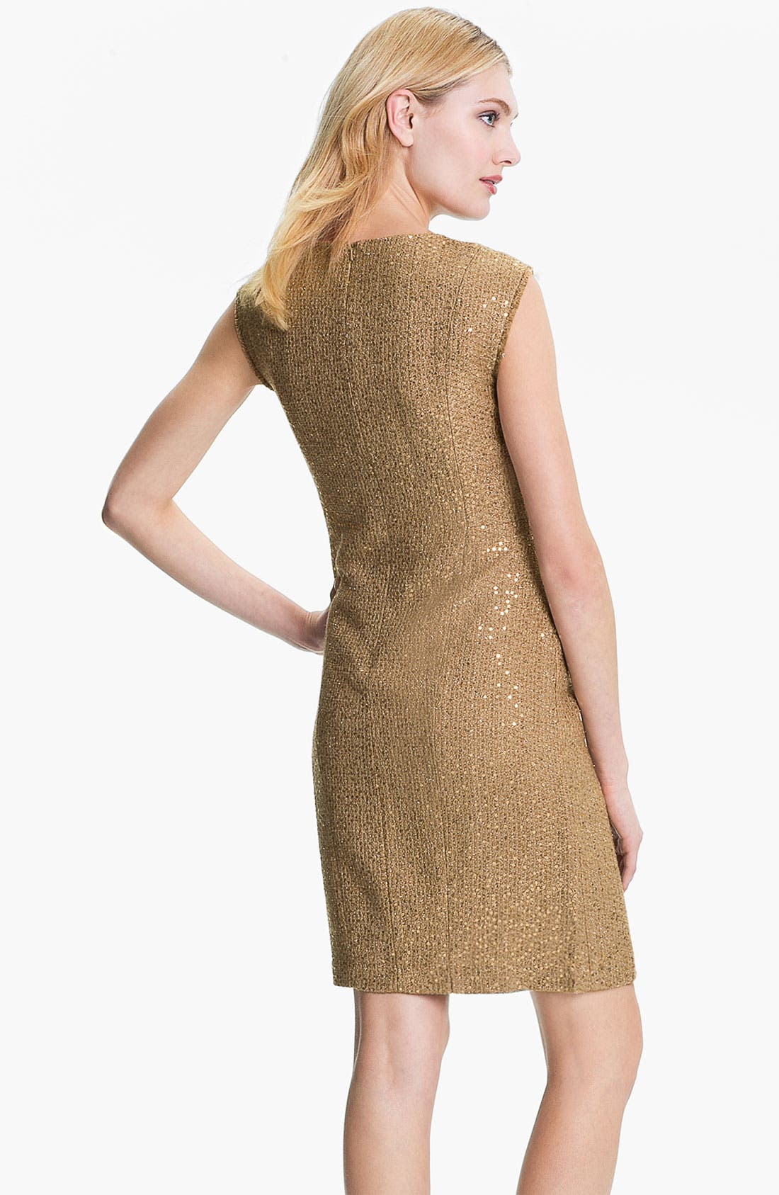 Alternate Image 2  - MICHAEL Michael Kors Fray Edge Sheath Dress (Petite)