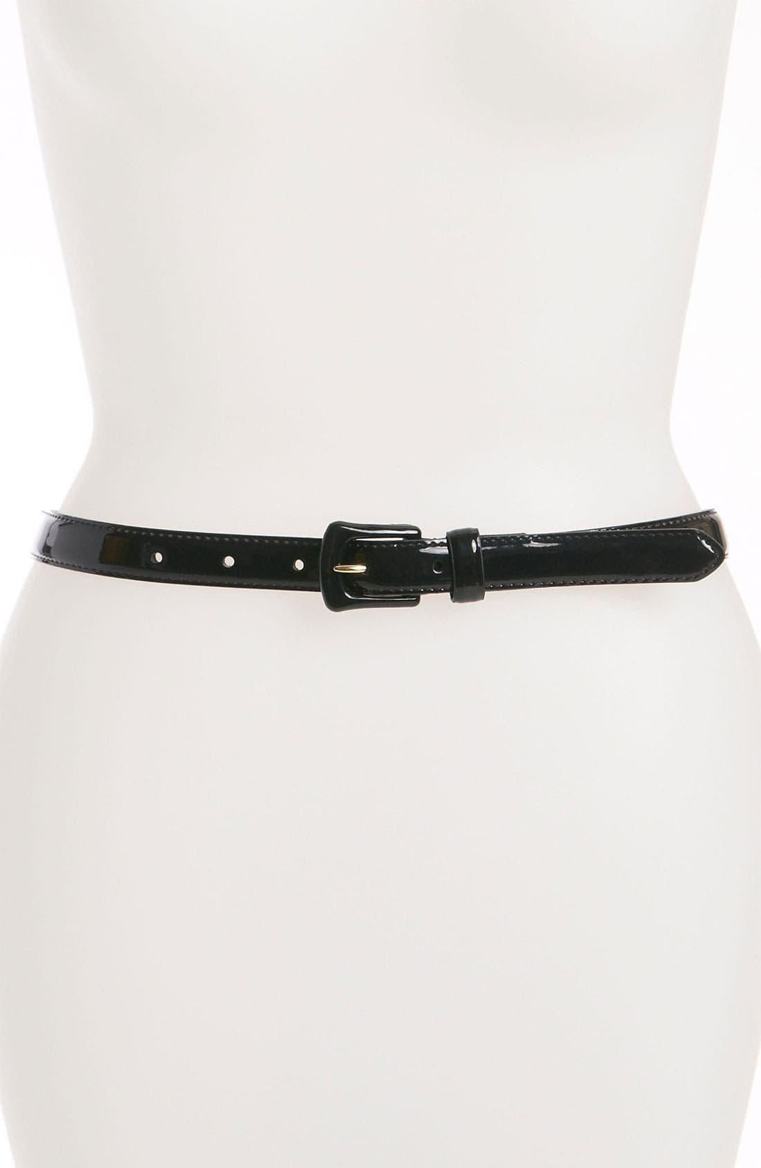 Main Image - Lauren Ralph Lauren Patent Belt