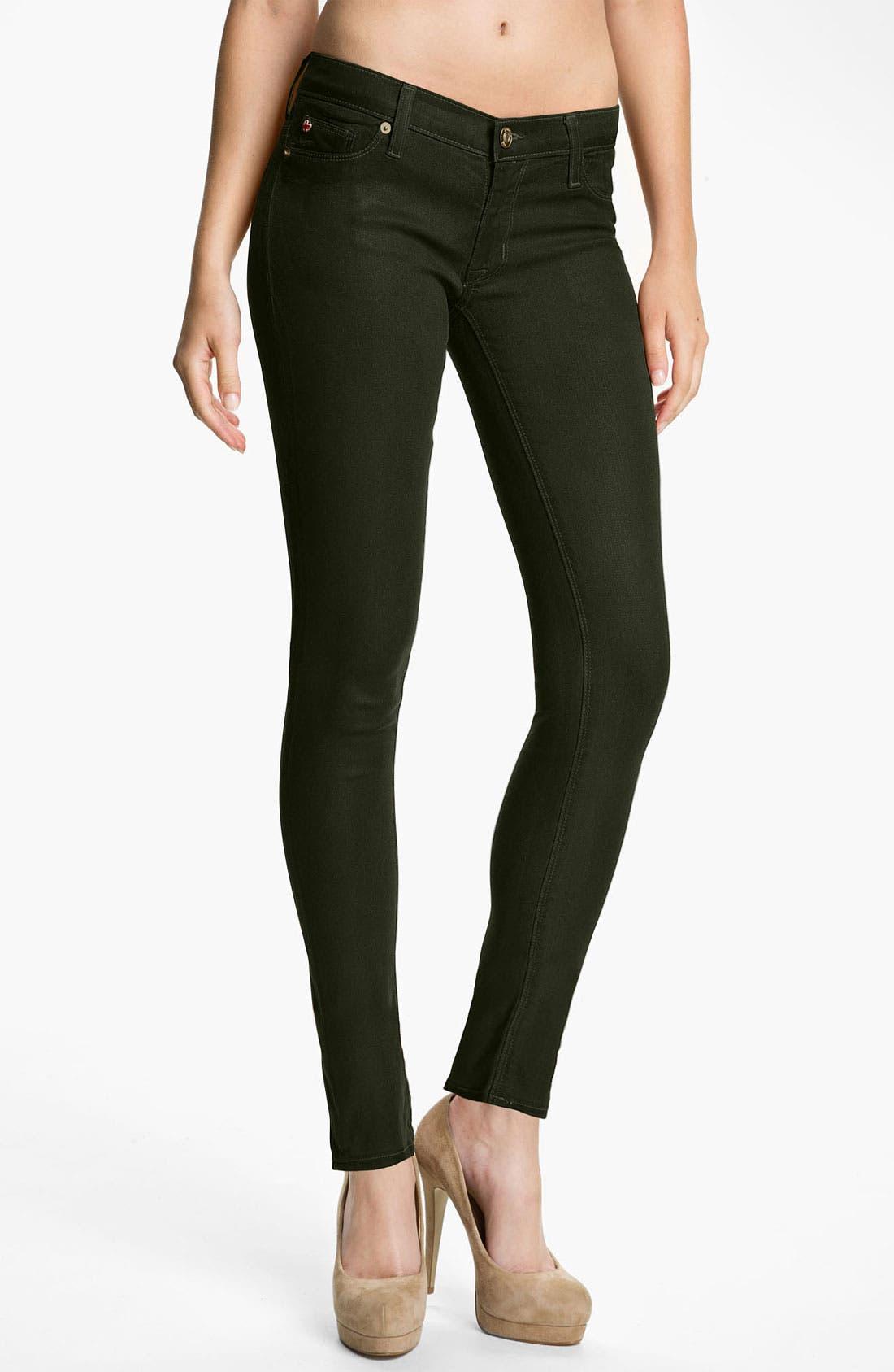 Main Image - Hudson Jeans 'Krista' Super Skinny Jeans (Fern Wax)