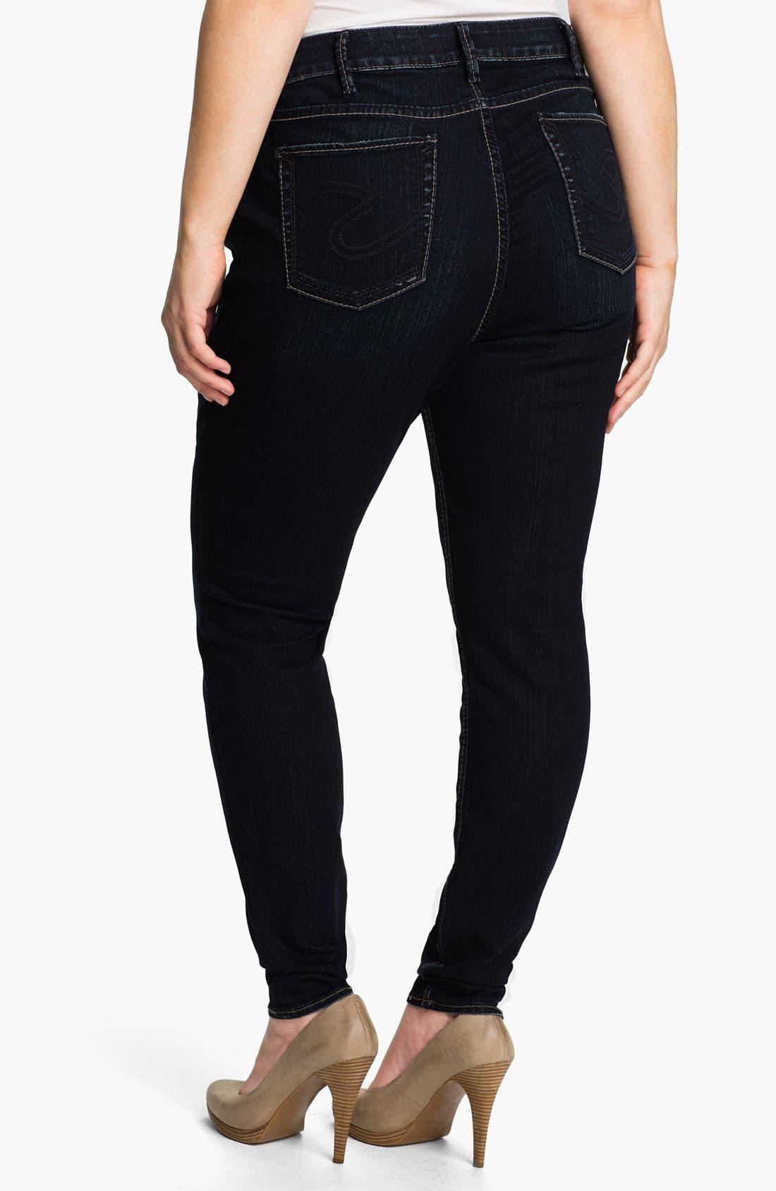 Alternate Image 2  - Silver Jeans Co. 'Stevie' Denim Leggings (Plus)