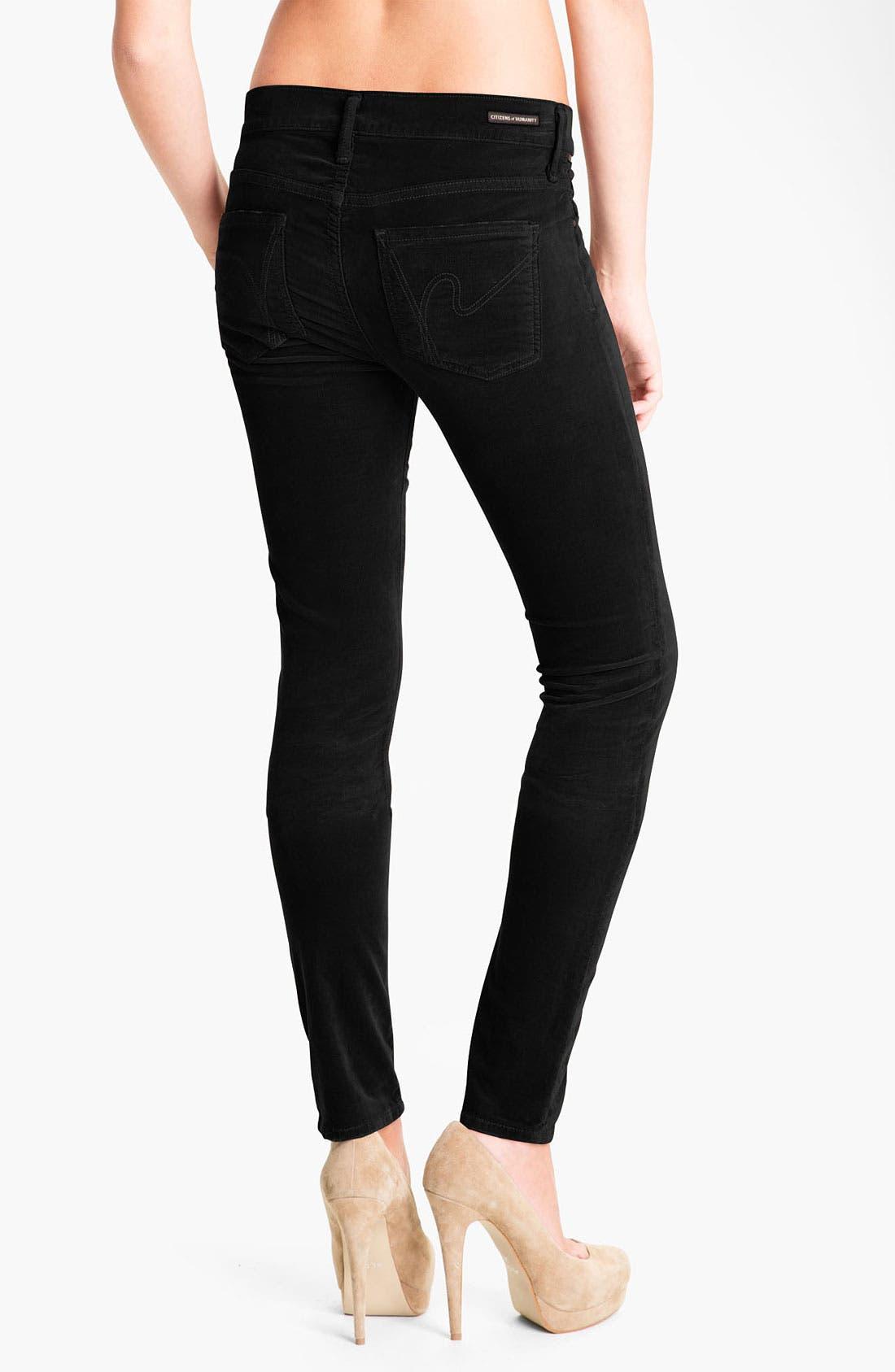 Alternate Image 2  - Citizens of Humanity Skinny Velvet Pants
