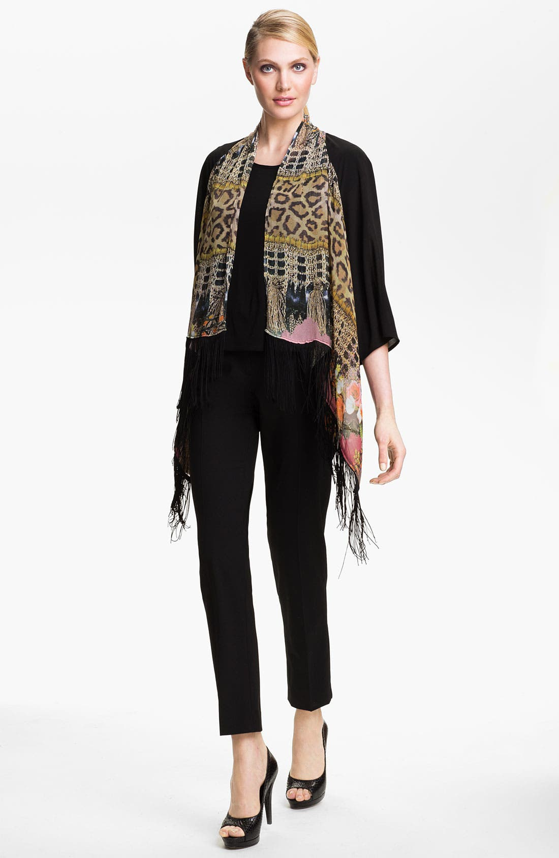 Alternate Image 4  - Alberto Makali Tassel Print Fringed Jacket