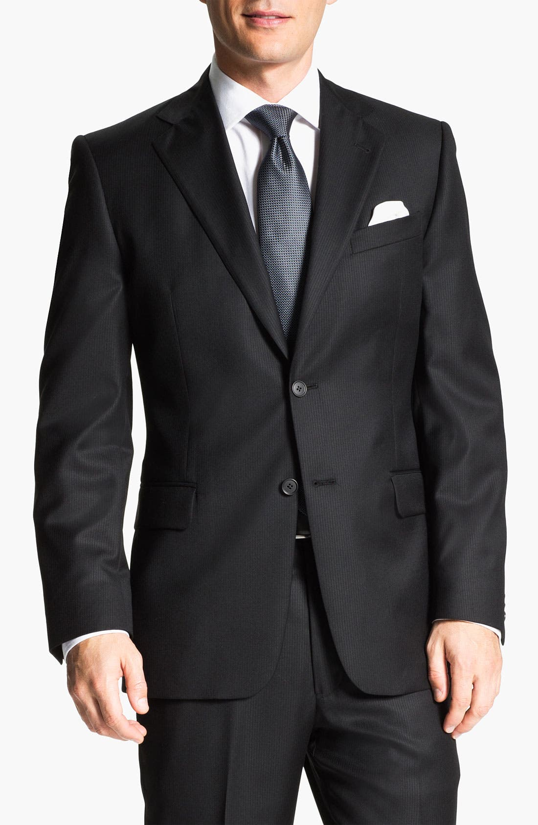 Alternate Image 1 Selected - Joseph Abboud Black Wool Suit