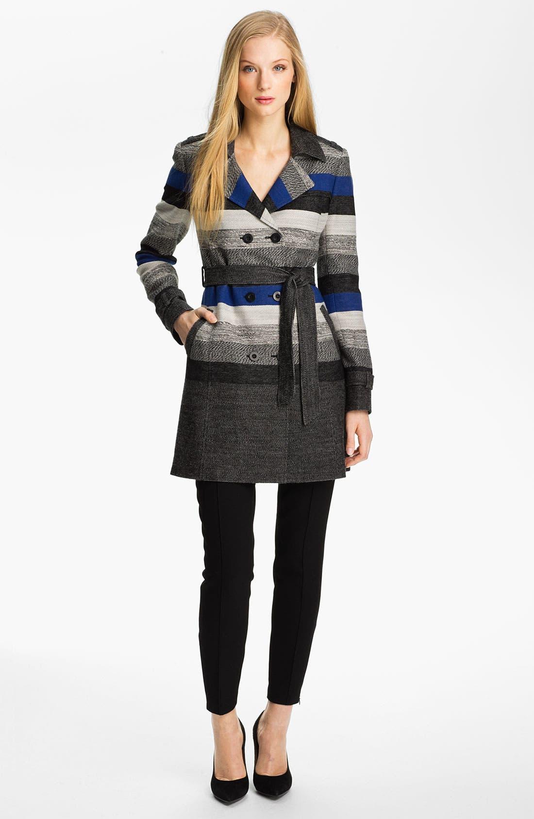 Alternate Image 4  - Classiques Entier® 'Art Stripe' Trench Coat