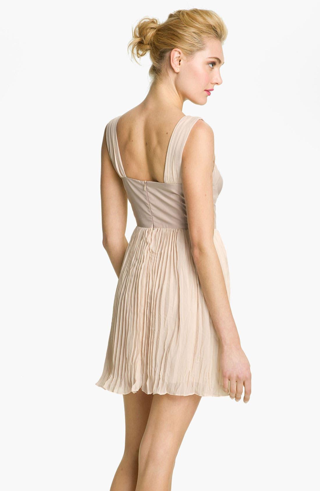 Alternate Image 2  - BB Dakota 'Abella' Pleated Bustier Dress