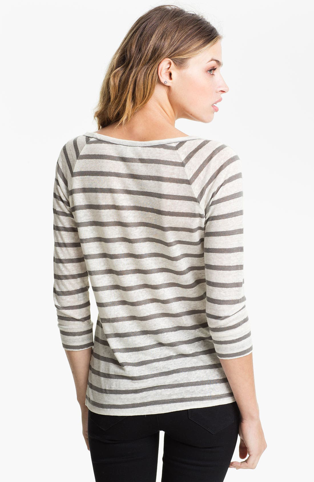 Alternate Image 2  - Joie 'Alpine' Stripe Linen Top