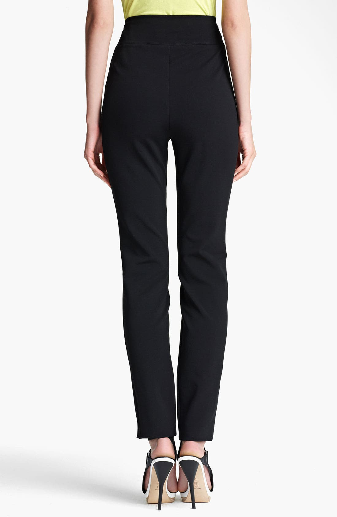 Alternate Image 2  - Lida Baday High Waist Stretch Knit Pants
