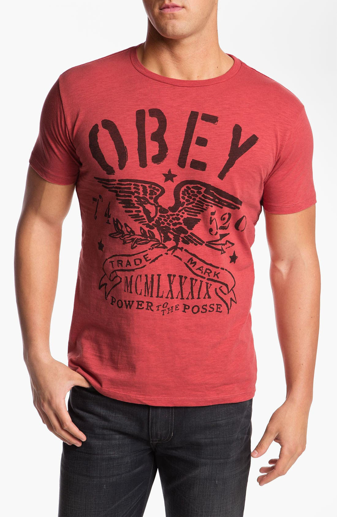 Alternate Image 1 Selected - Obey 'Trademark Eagle' T-Shirt