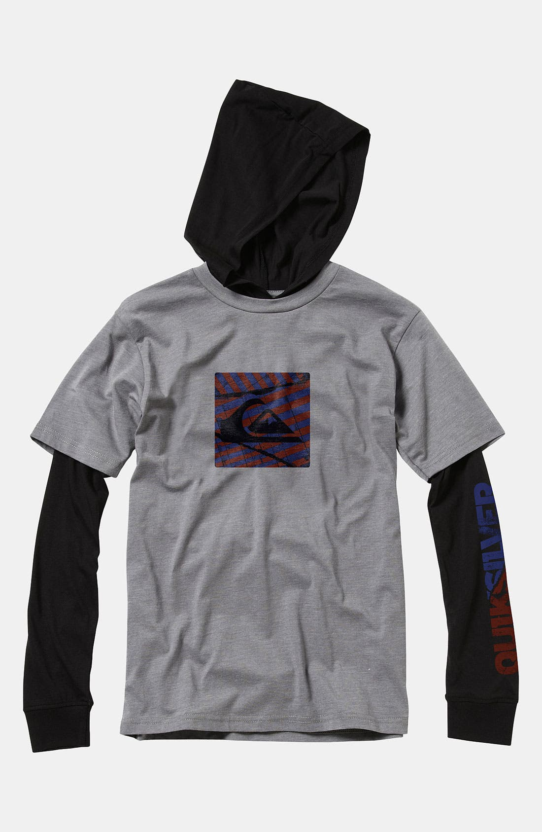 Alternate Image 1 Selected - Quiksilver 'Balin' Hooded Shirt (Big Boys)