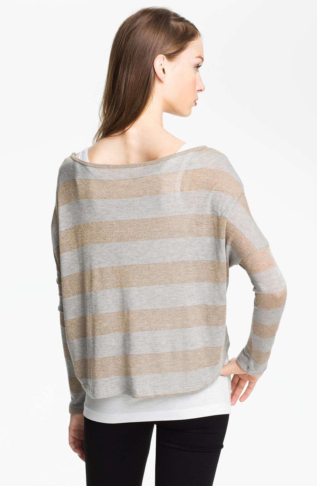 Alternate Image 2  - Two by Vince Camuto Metallic Stripe Sweater