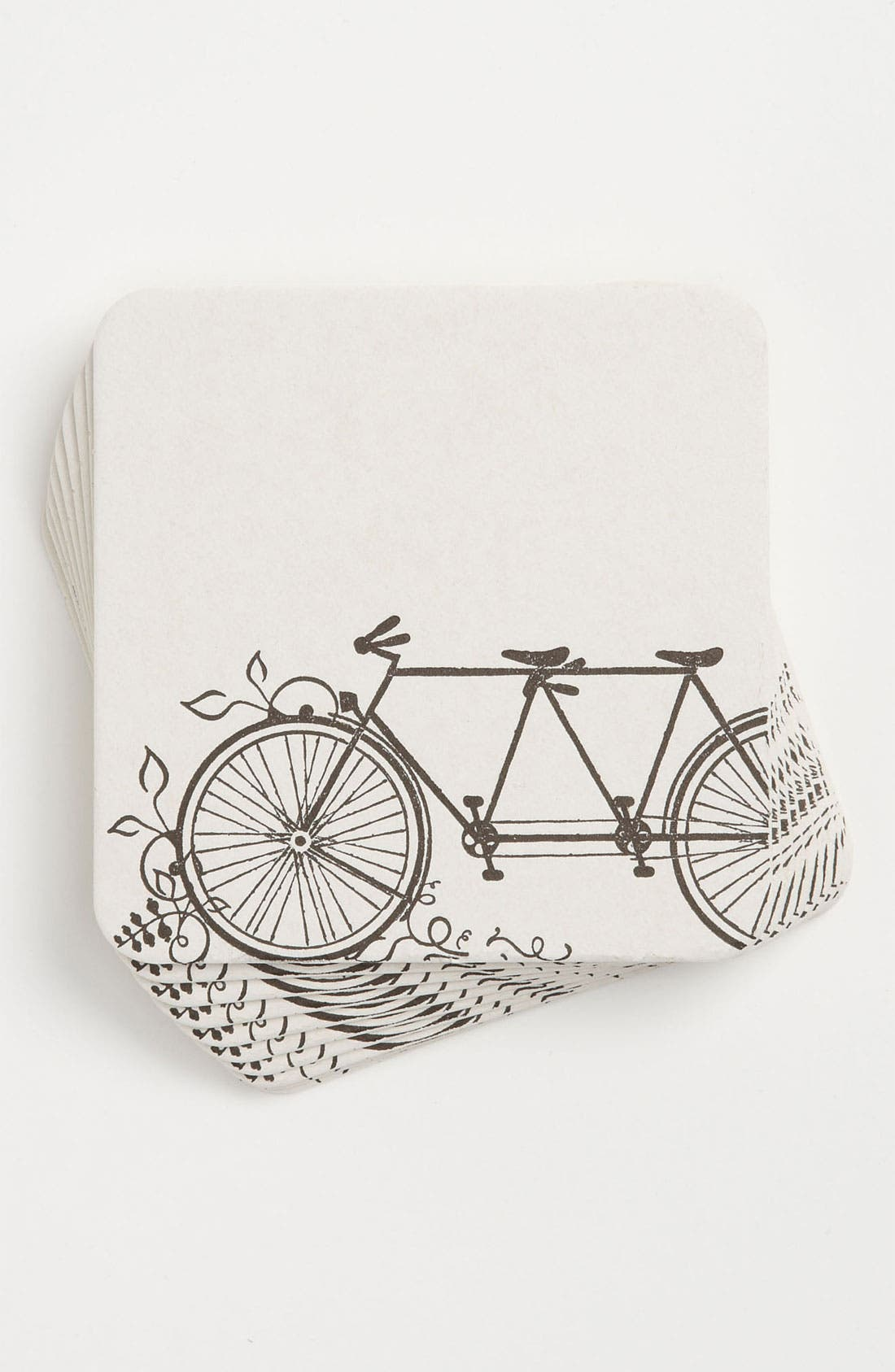 Alternate Image 1 Selected - 'Tandem Bike' Coasters (Set of 10)