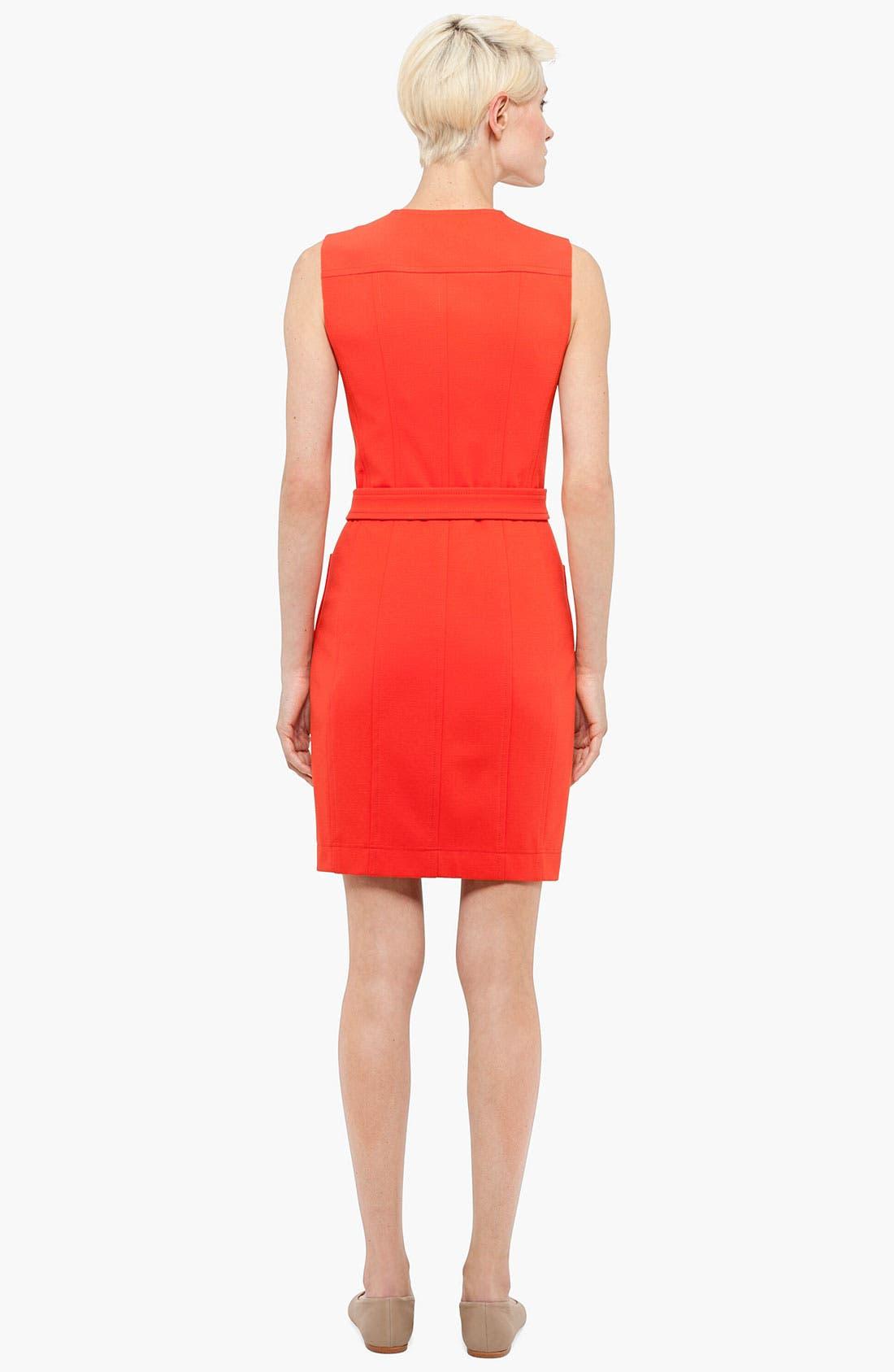 Alternate Image 2  - Akris punto Belted Jersey Dress
